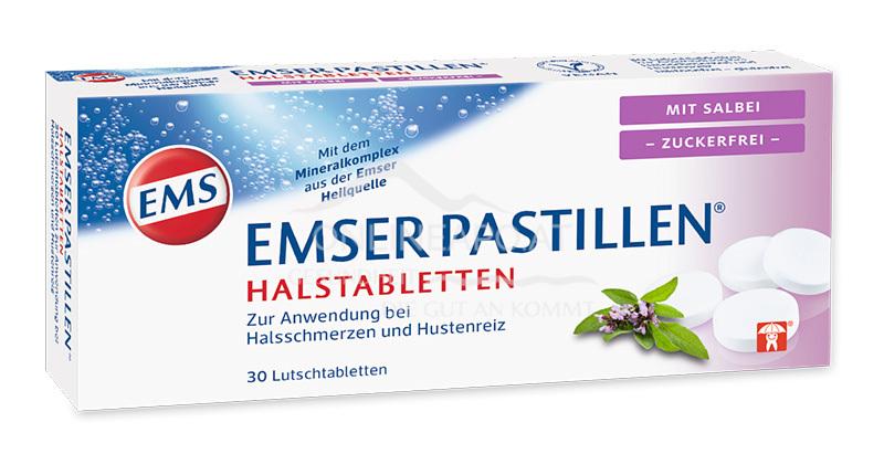 Emser Pastillen® Halstabletten mit Salbei, zuckerfrei