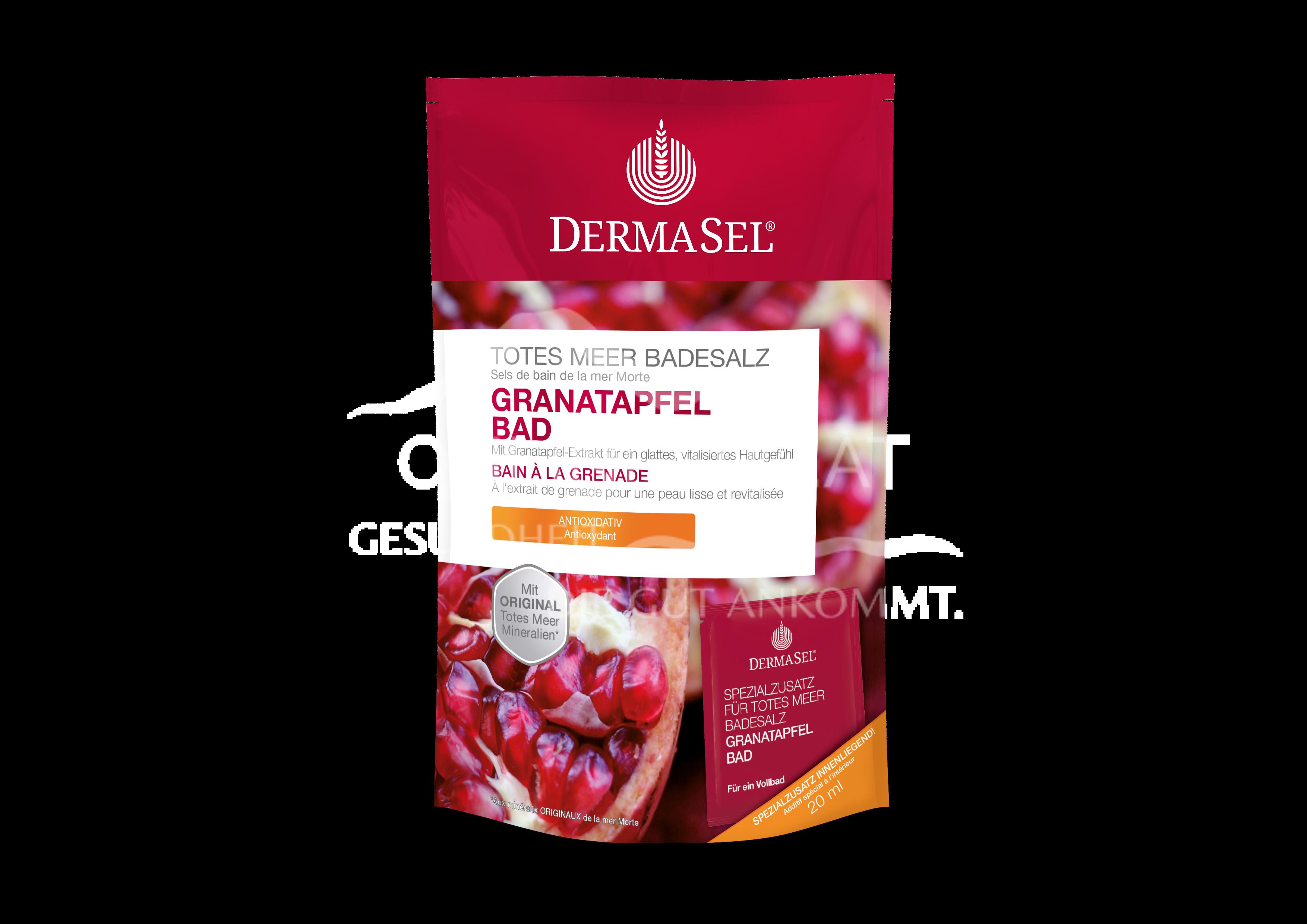 DermaSel® Totes Meer Badesalz Granatapfel Bad