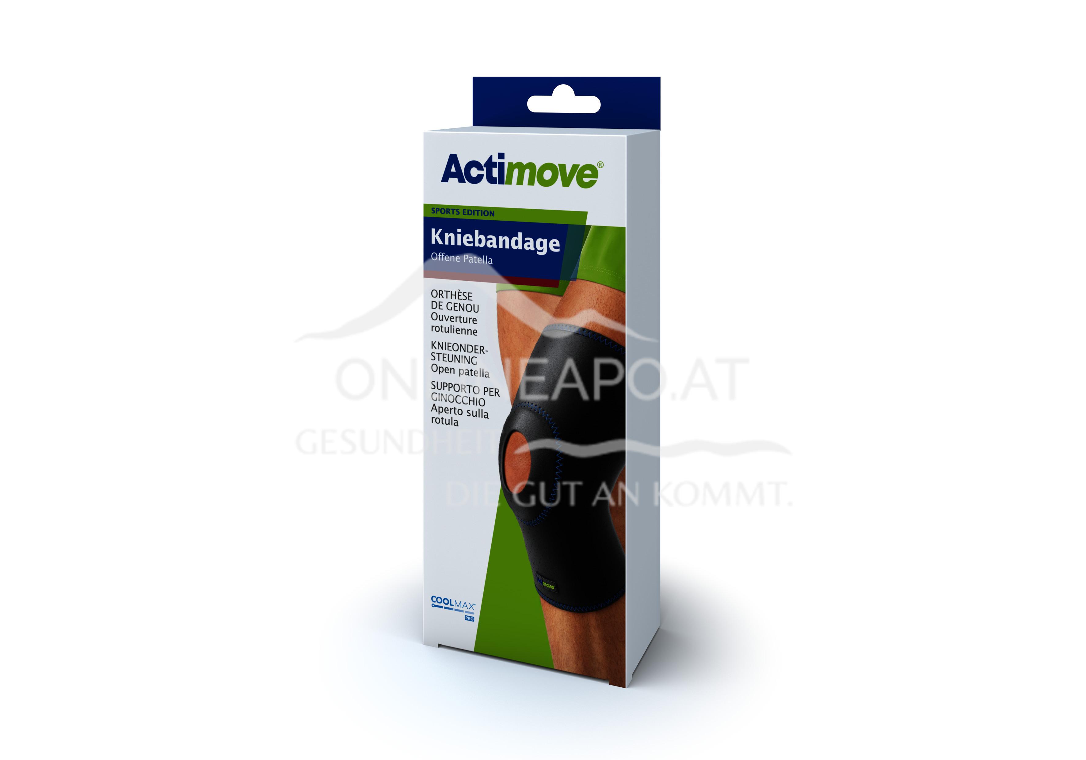 Actimove® Sport Edition Kniebandage Offene Patella Größe XL