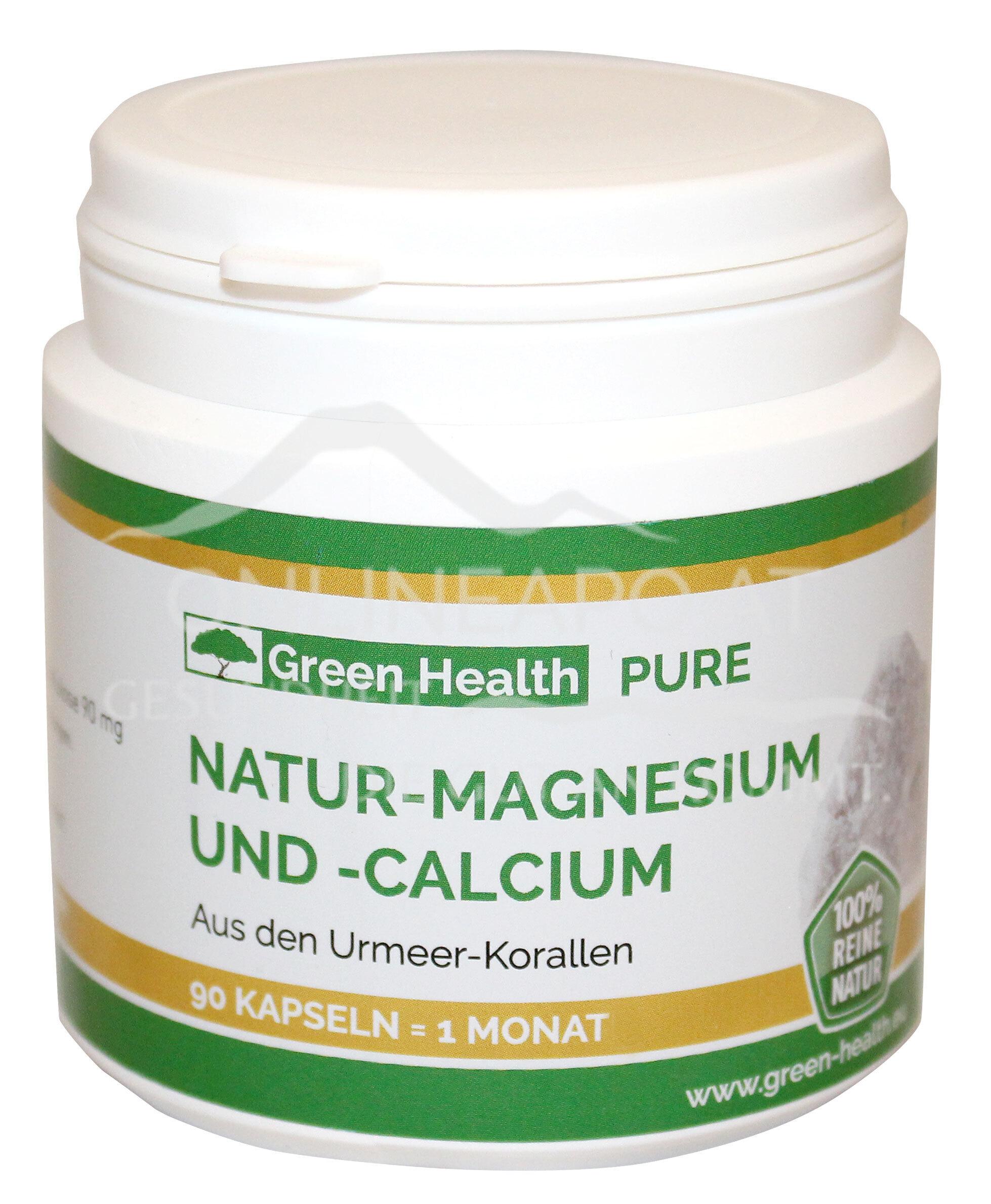 Green Health PURE Natur-Magnesium und -Calcium