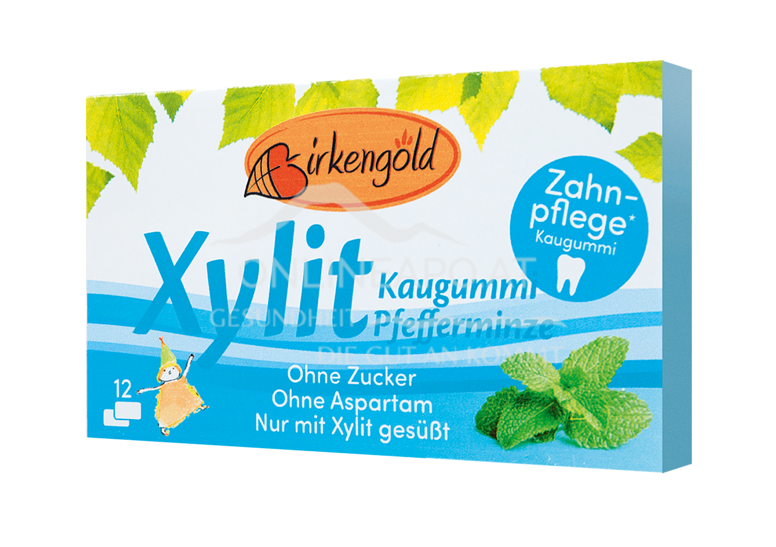 Birkengold Kaugummi Pfefferminze