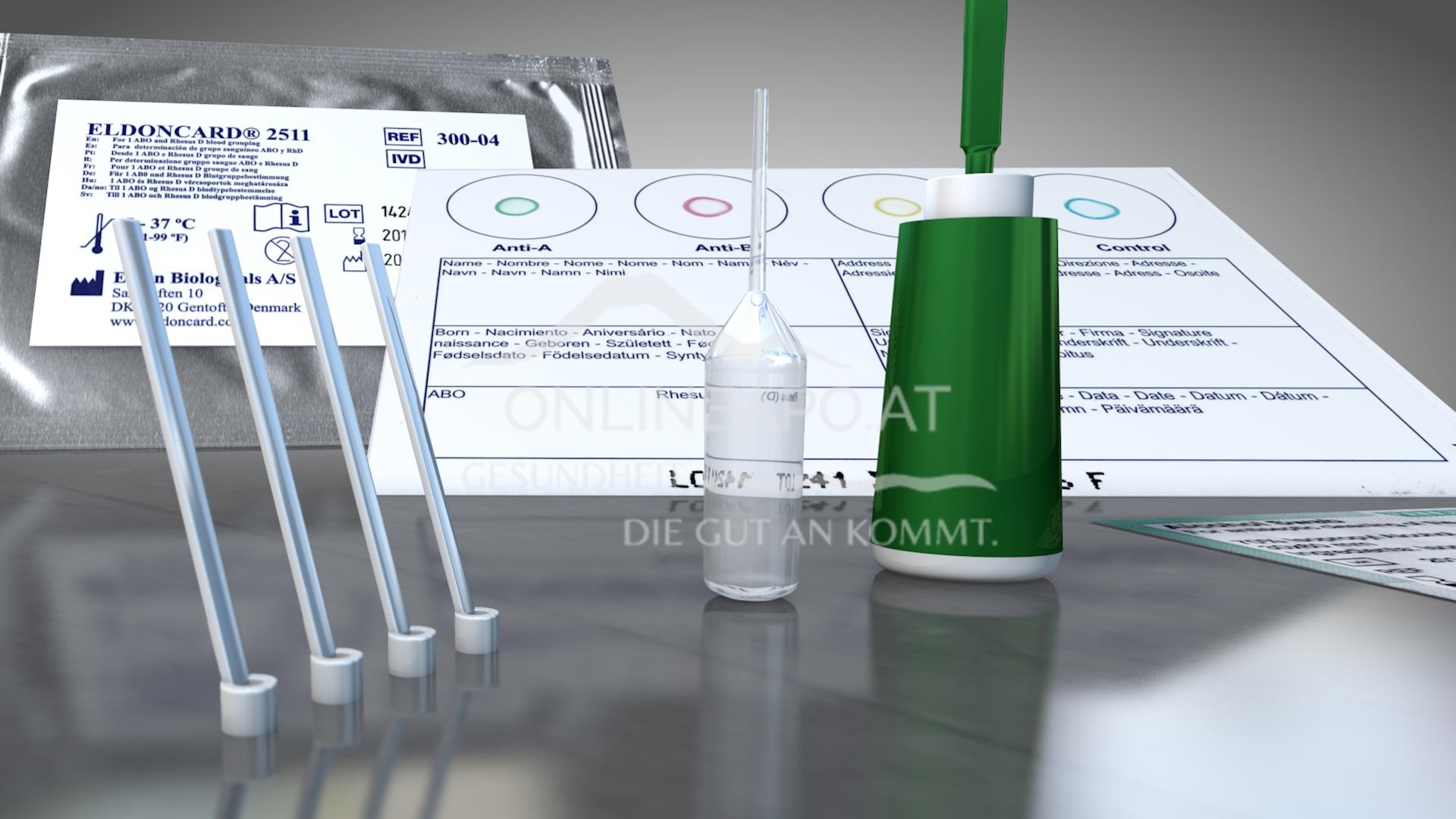 Eldon Blutgruppe Schnelltest Home Kit