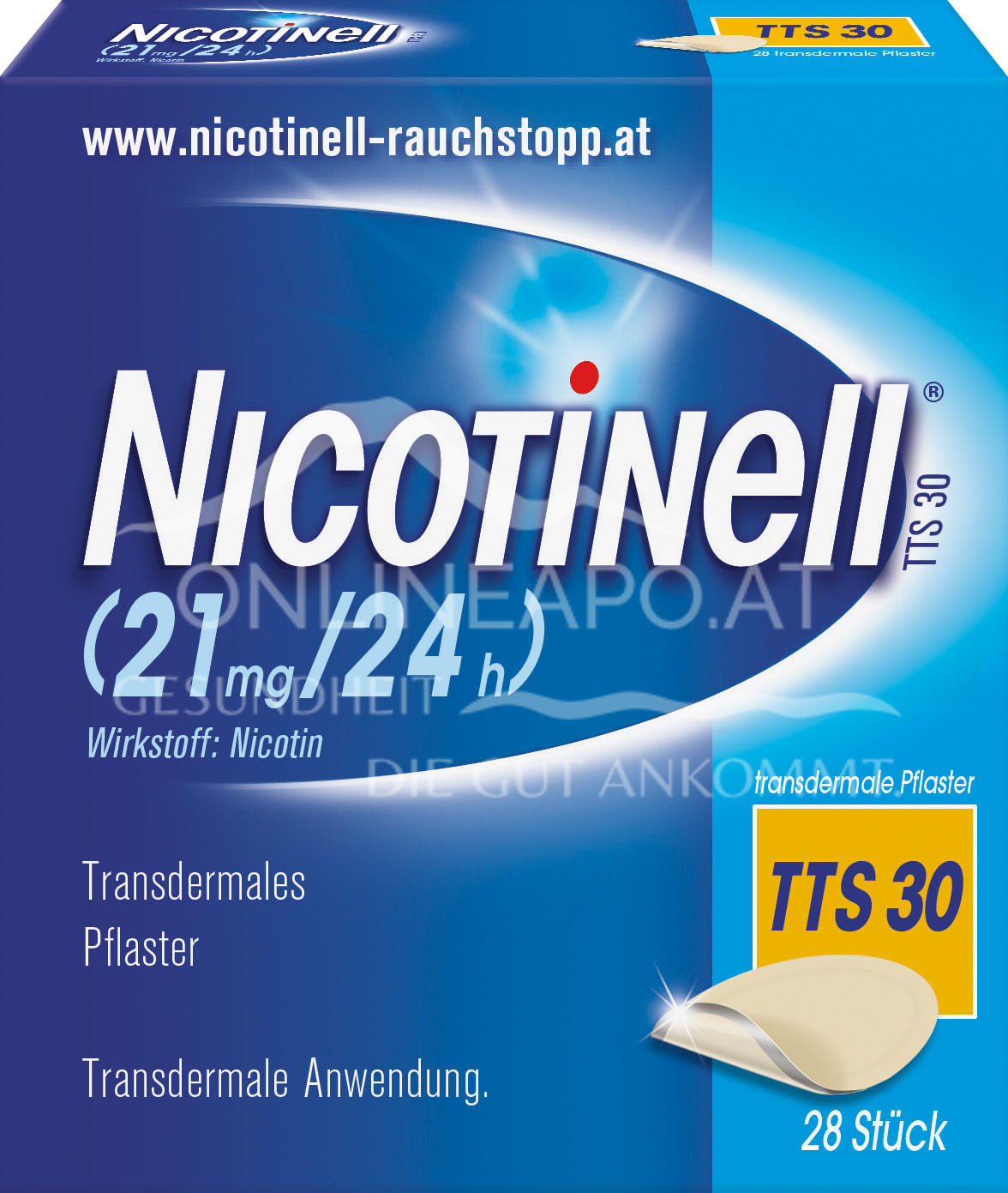 Nicotinell® TTS 30 (21 mg/24 h) transdermale Pflaster