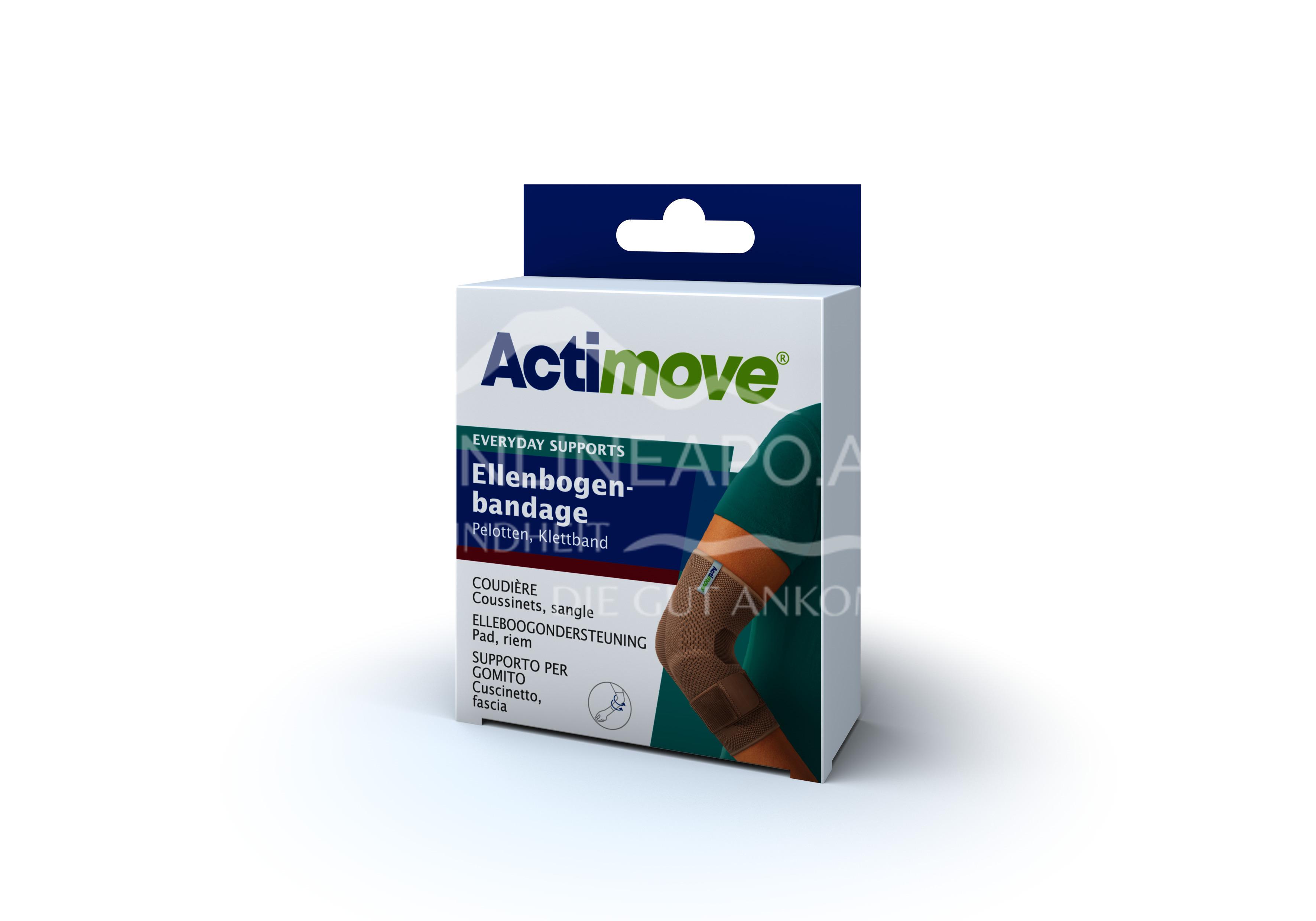 Actimove® Everyday Supports Ellenbogenbandage Pelotten, Klebeband Größe L