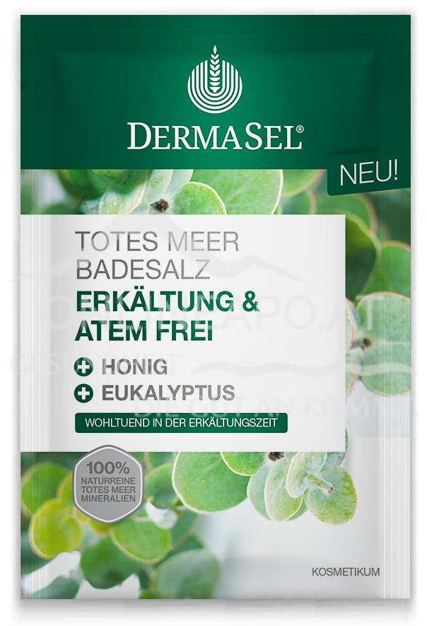 DermaSel® Totes Meer Badesalz Erkältung und Atemfrei