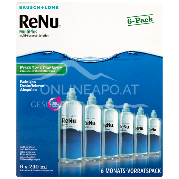 ReNu MultiPlus Fresh Lens Comfort All-in-One Pflegemittel 6-Monatspack