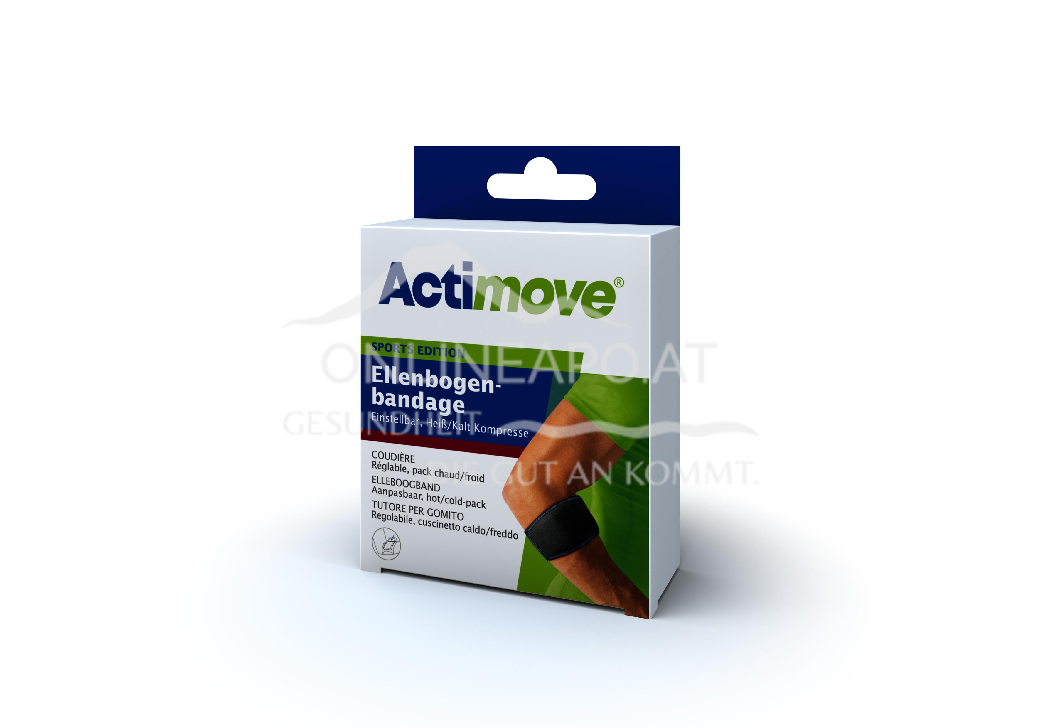 Actimove® Sport Edition Ellenbogenbandage Einstellbar, Heiß/Kalt Kompresse