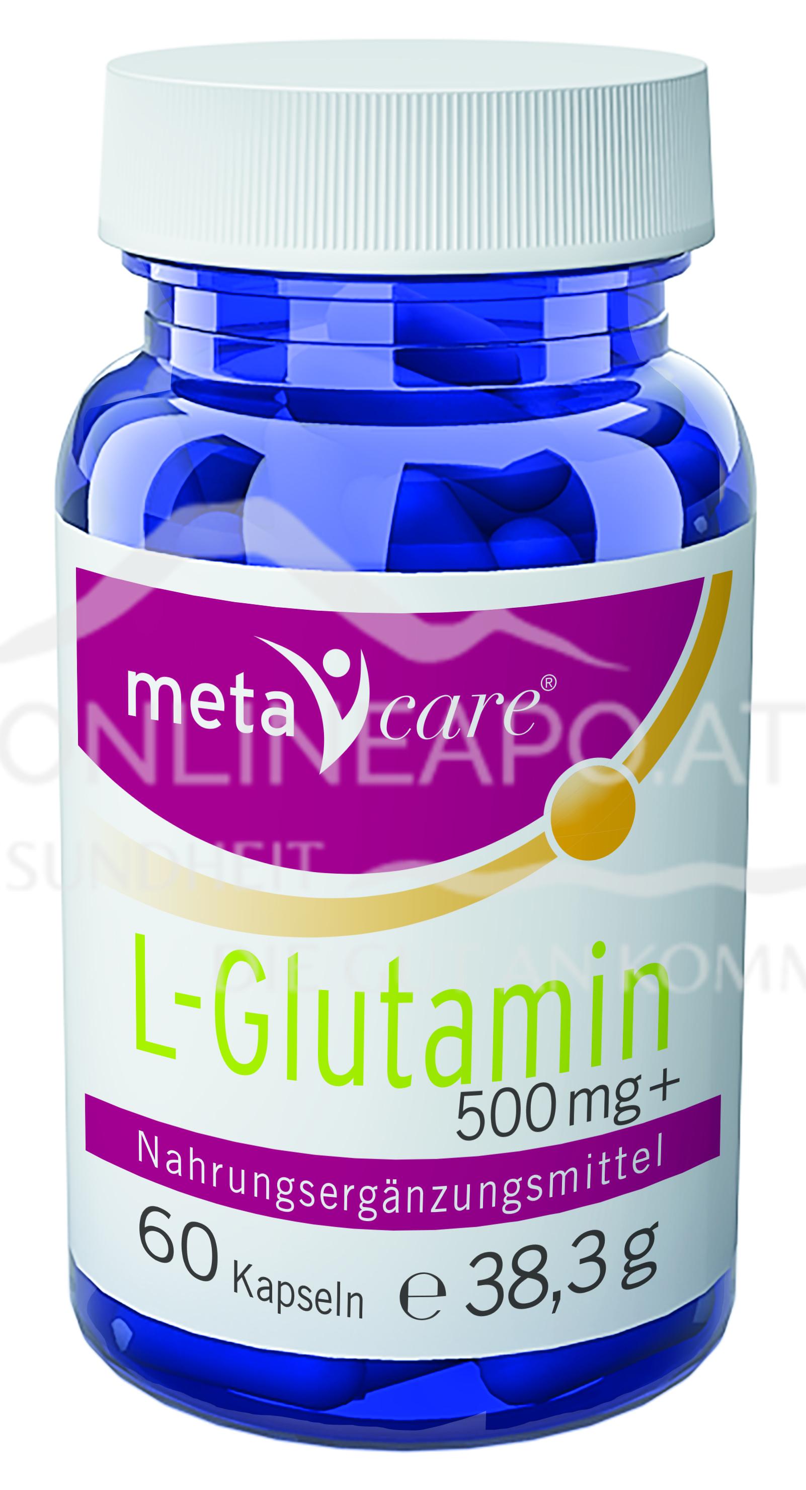 metacare® L-Glutamin 500 mg +