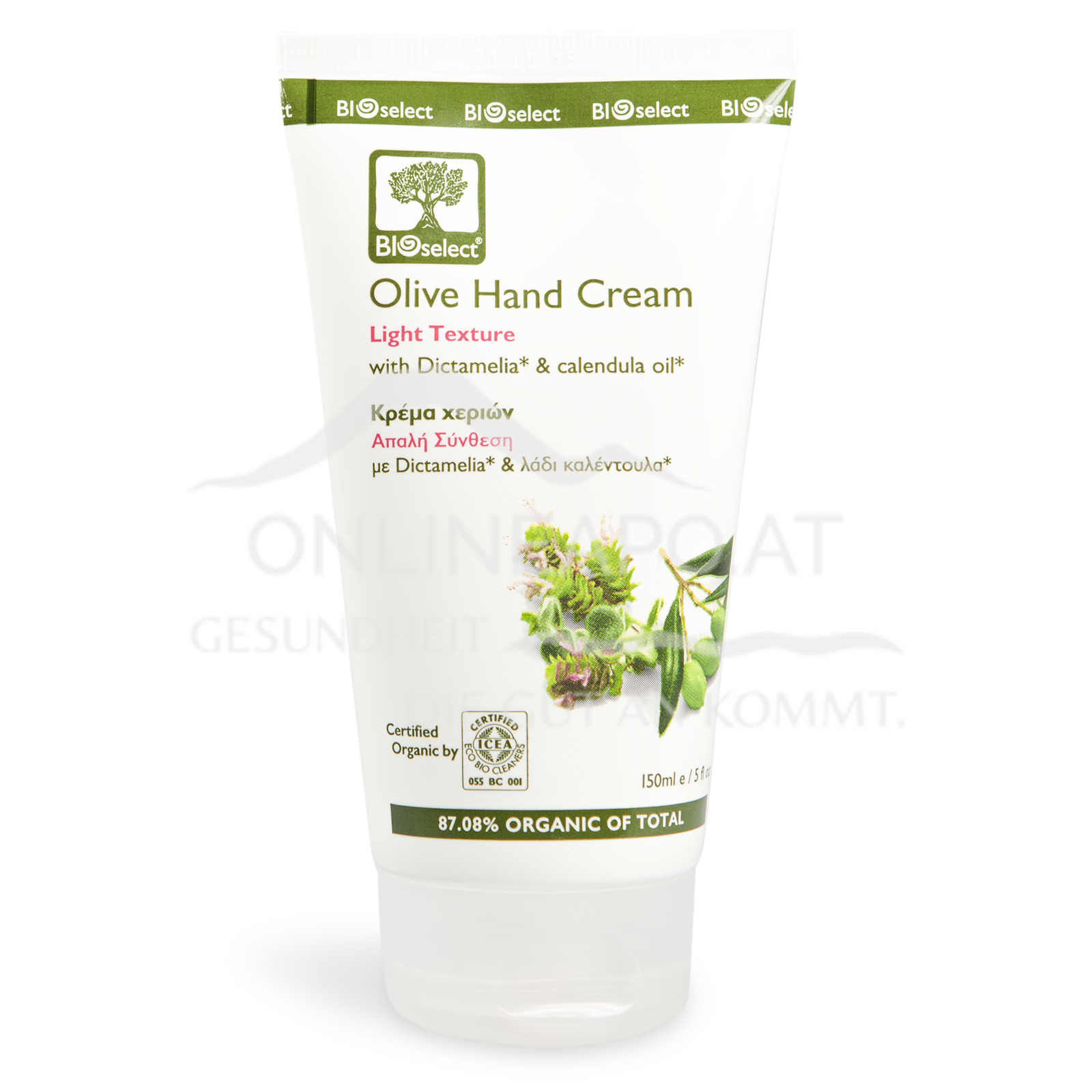 Bioselect Olive Hand Cream Light Texture