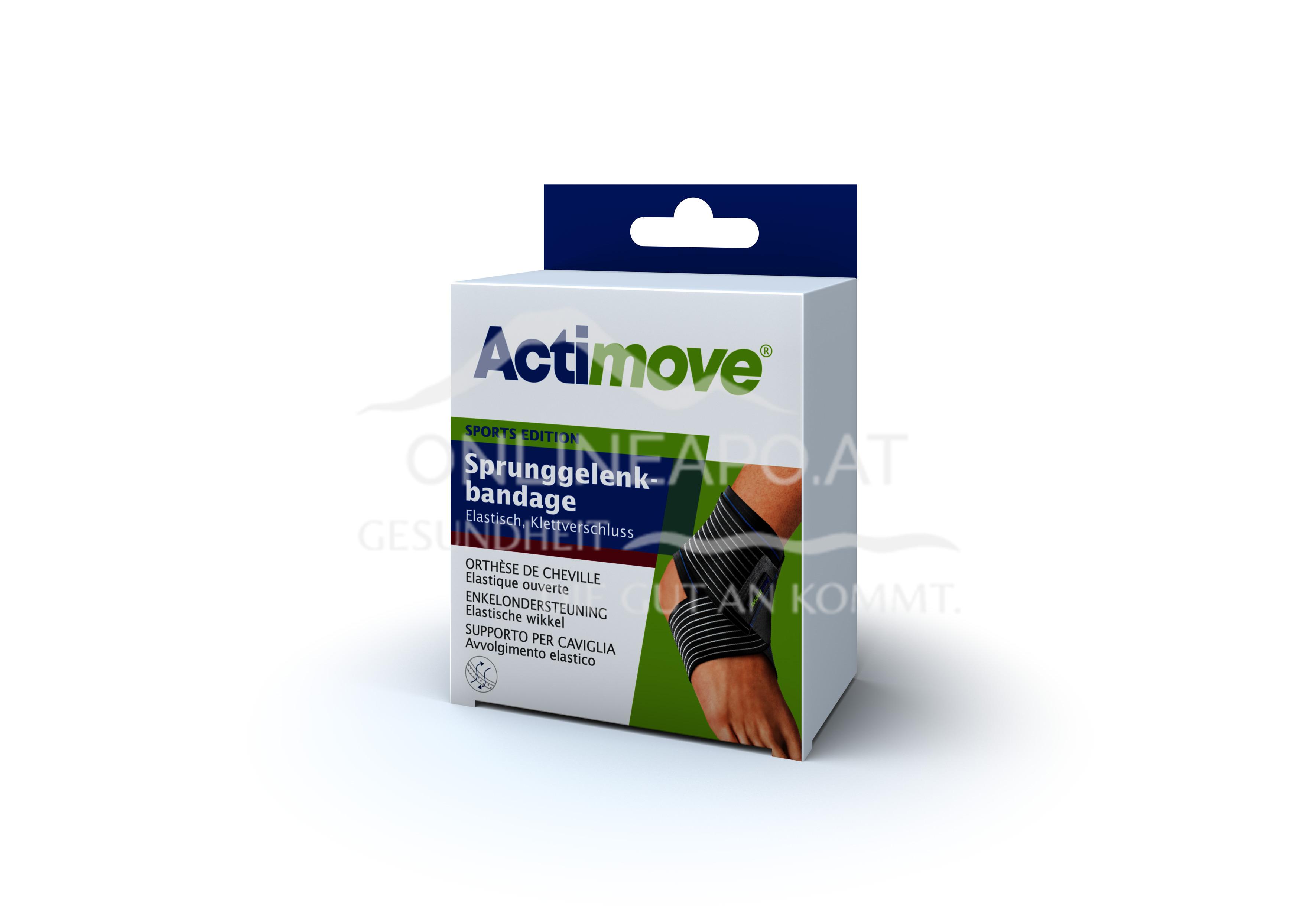 Actimove® Sport Edition Sprunggelenkbandage Elastisch, Klettverschluss Größe M