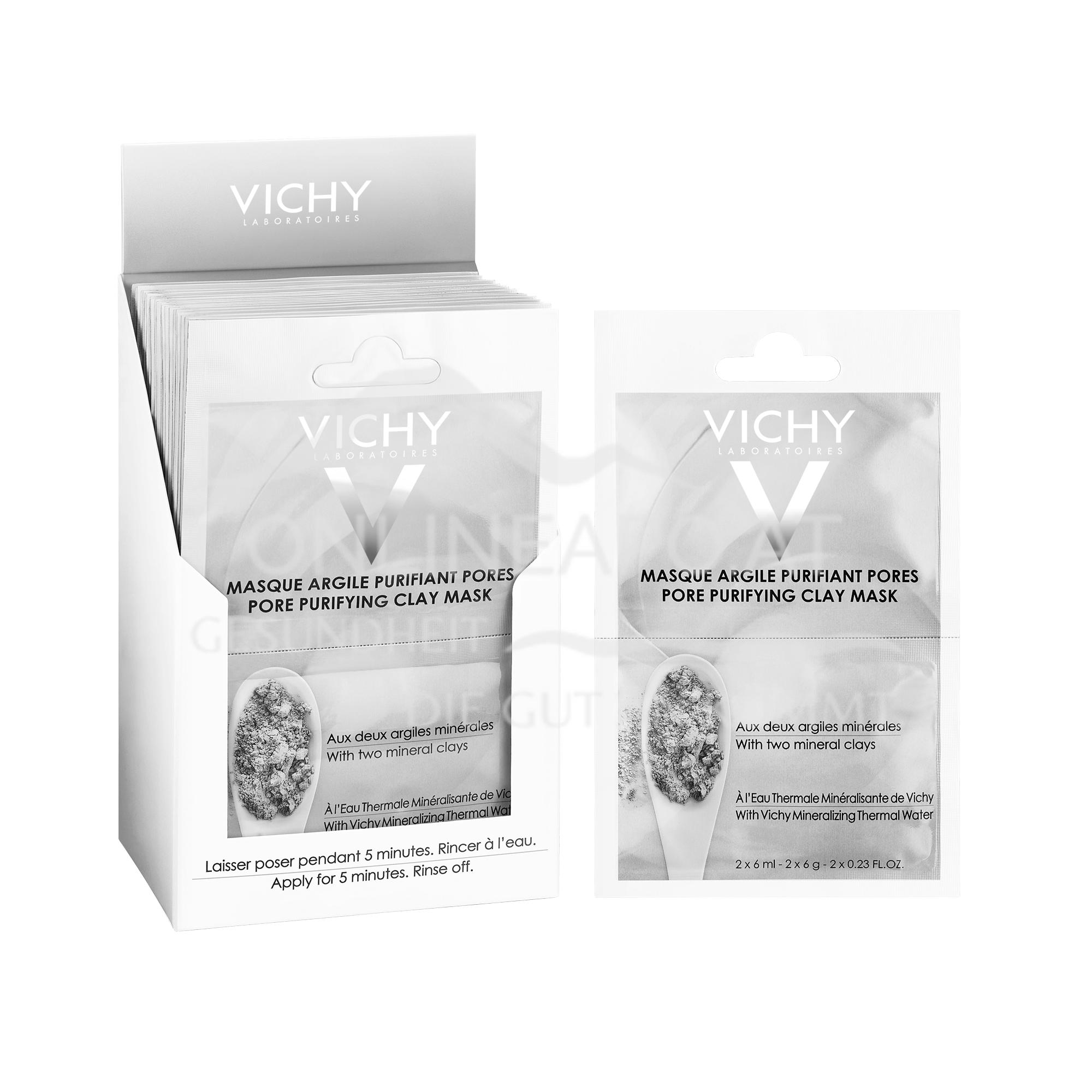 VICHY Pureté Thermale Porenverfeinernde Maske Duo-Sachet 2x6 ml