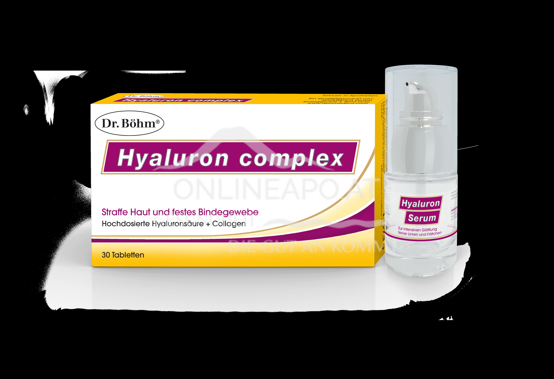 Dr. Böhm® Hyaluron complex Tabletten und Hyaluron Serum