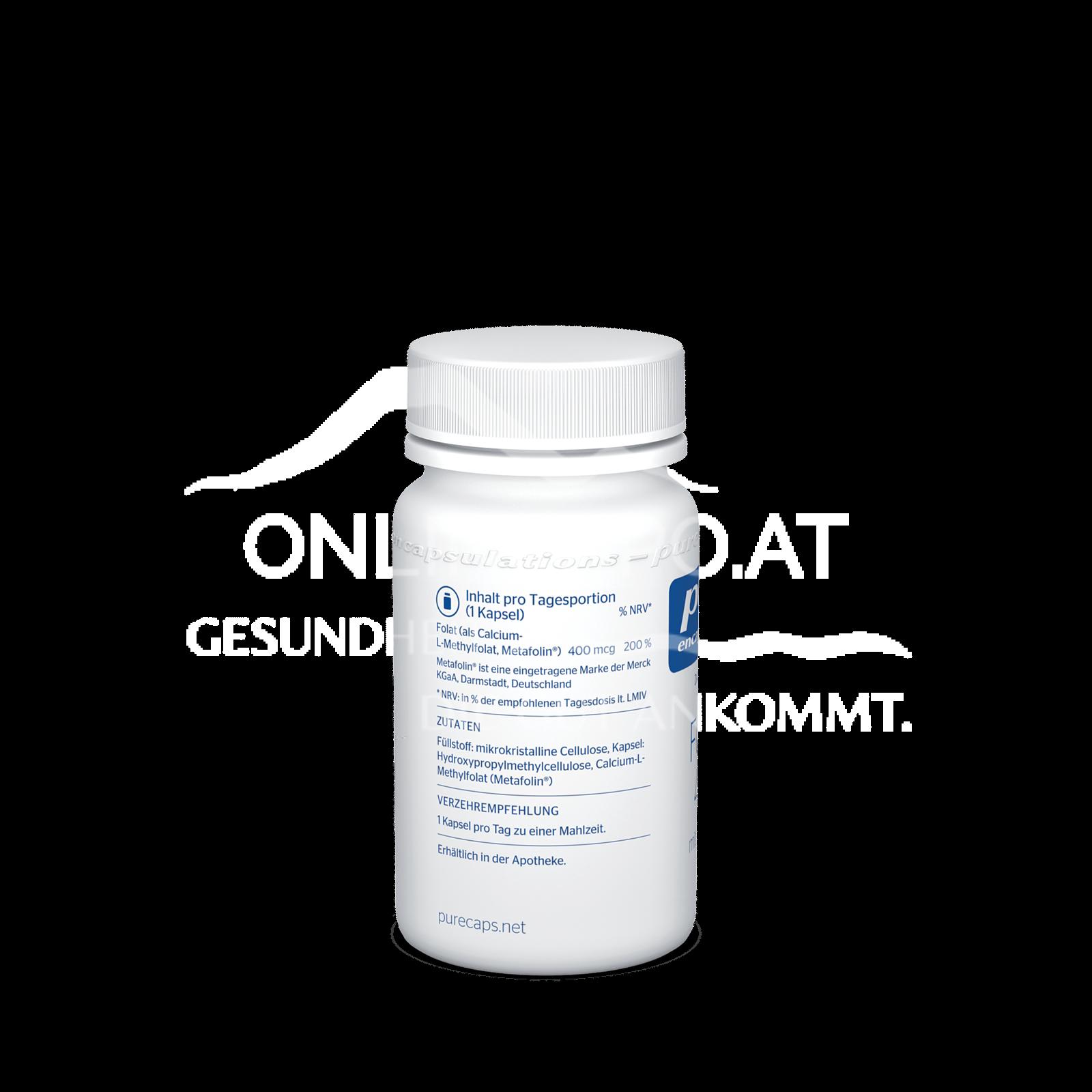pure encapsulations® Folate 400 mit Metafolin®