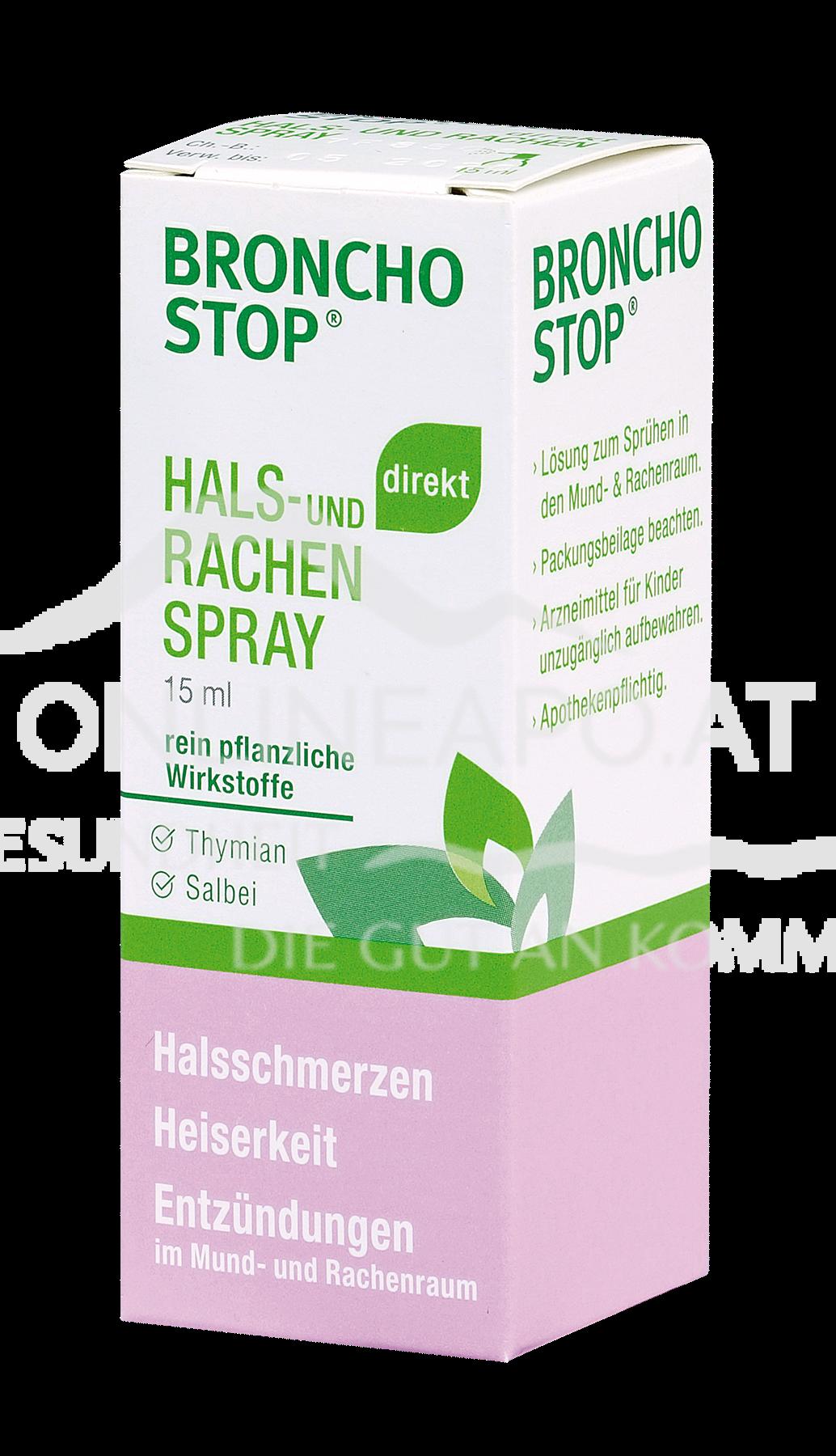BRONCHOSTOP® direkt Hals- und Rachenspray*