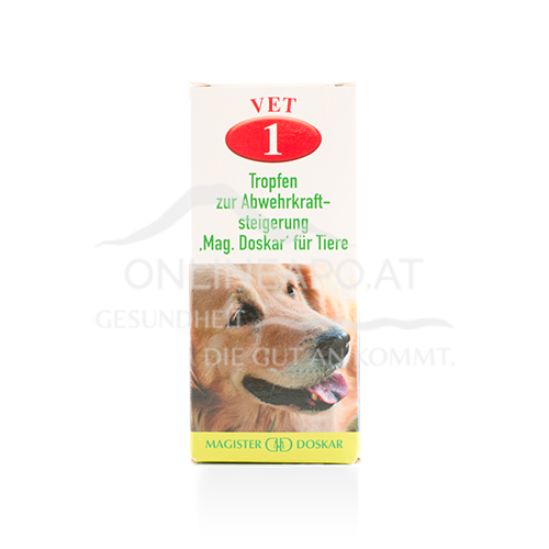 Doskar VET 1 Tropfen - Tropfen zur Abwehrkraftsteigerung für Tiere