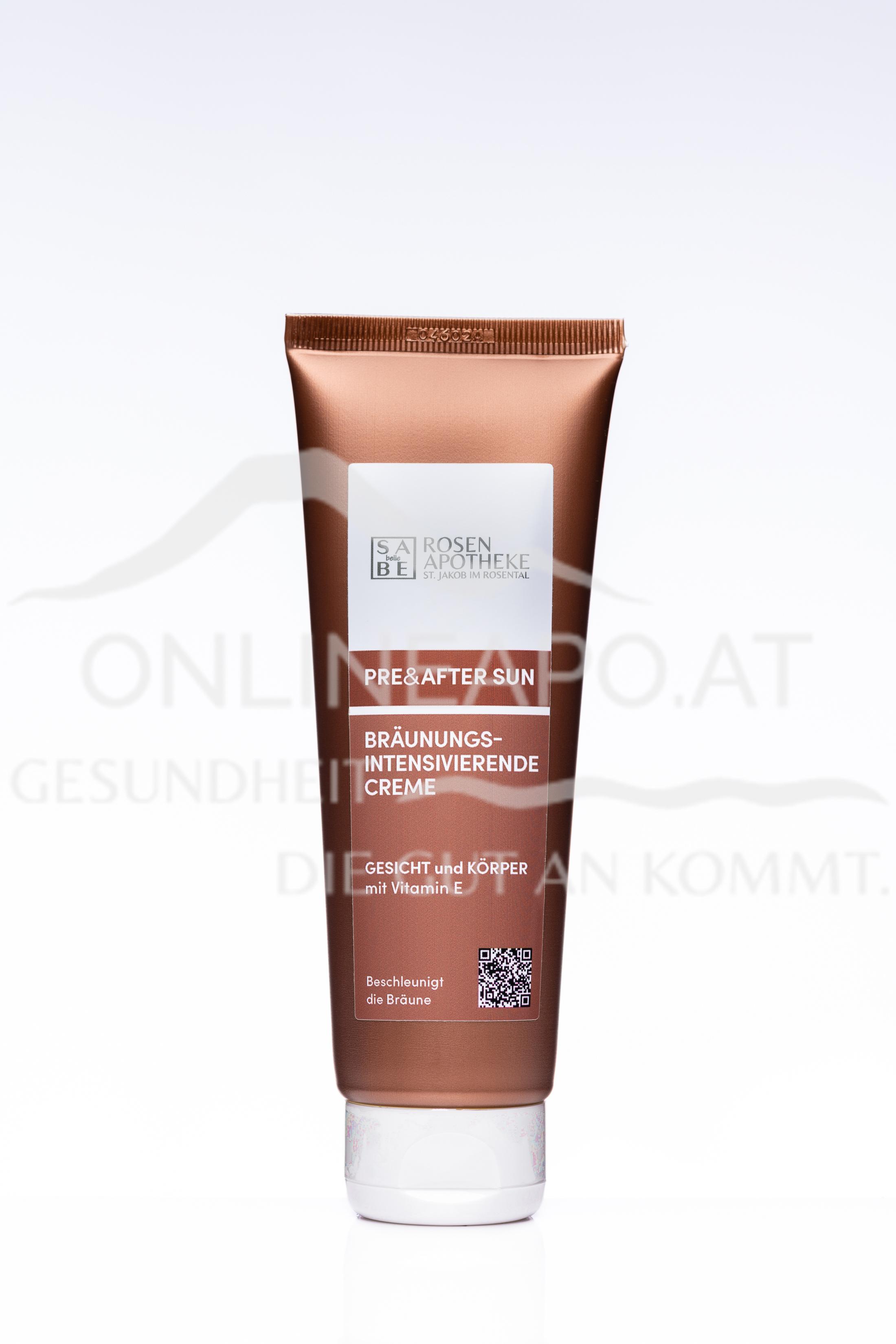 SABE belle Bräunungsintensivierende Creme Pre & After Sun