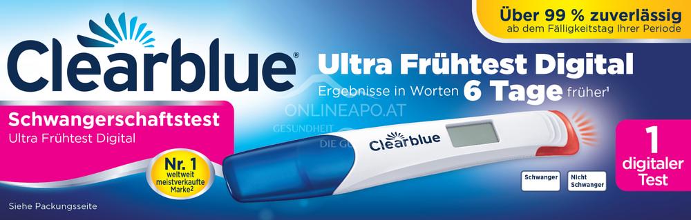 Clearblue Schwangerschaftstests Ultra Frühtest Digital