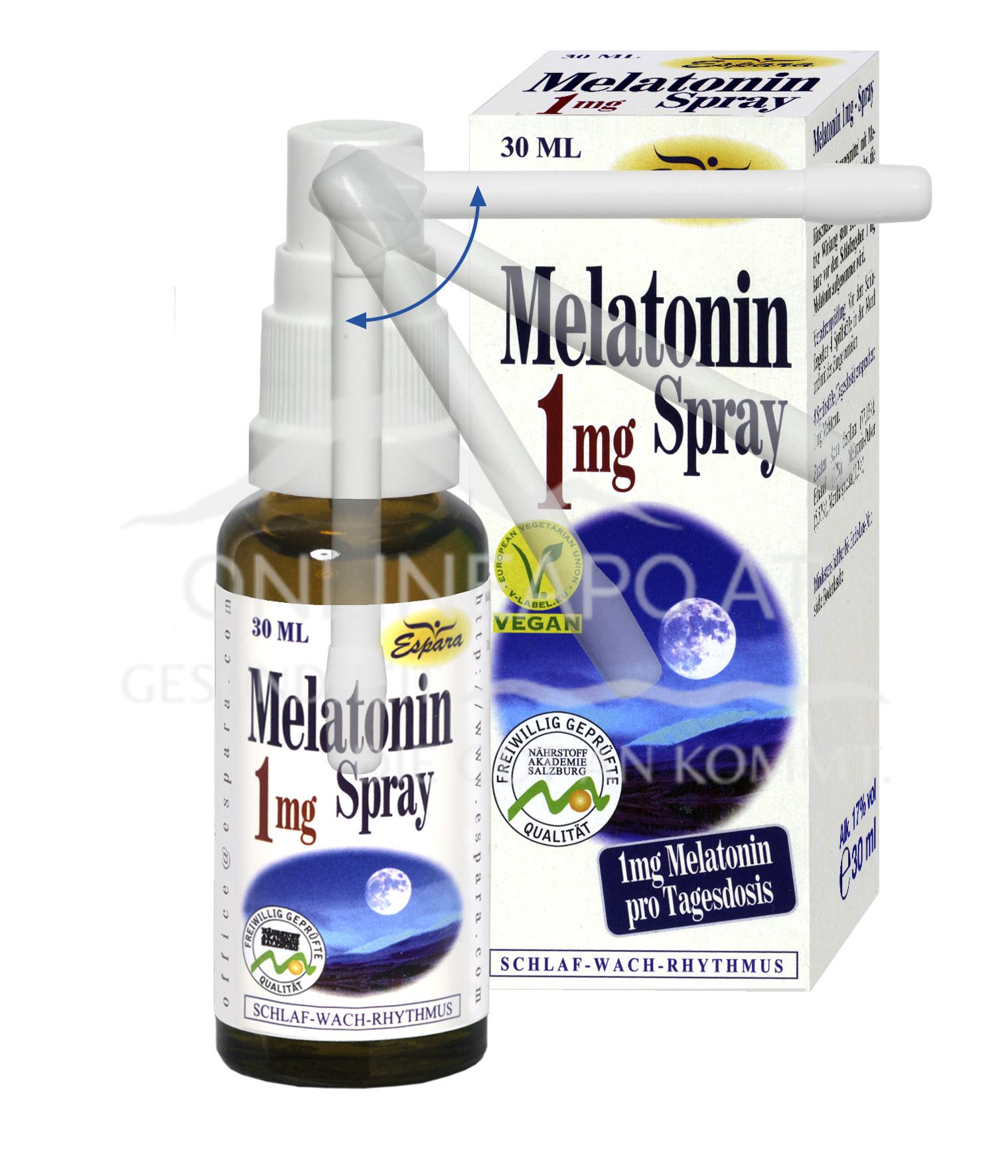 Espara Melatonin 1mg Spray