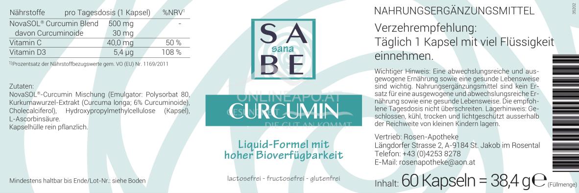 SABE sana Curcumin Liquid-Kapseln