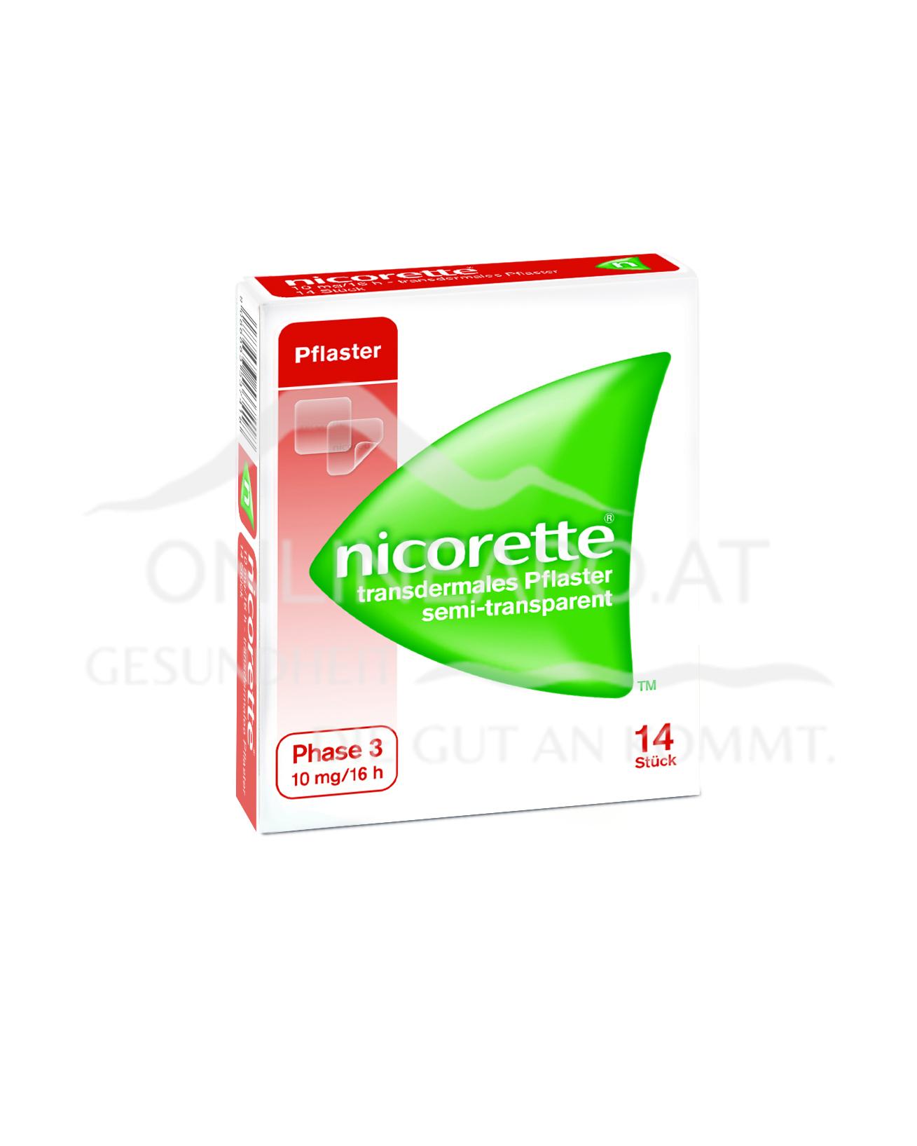Nicorette® Transdermales Pflaster 10mg/16h
