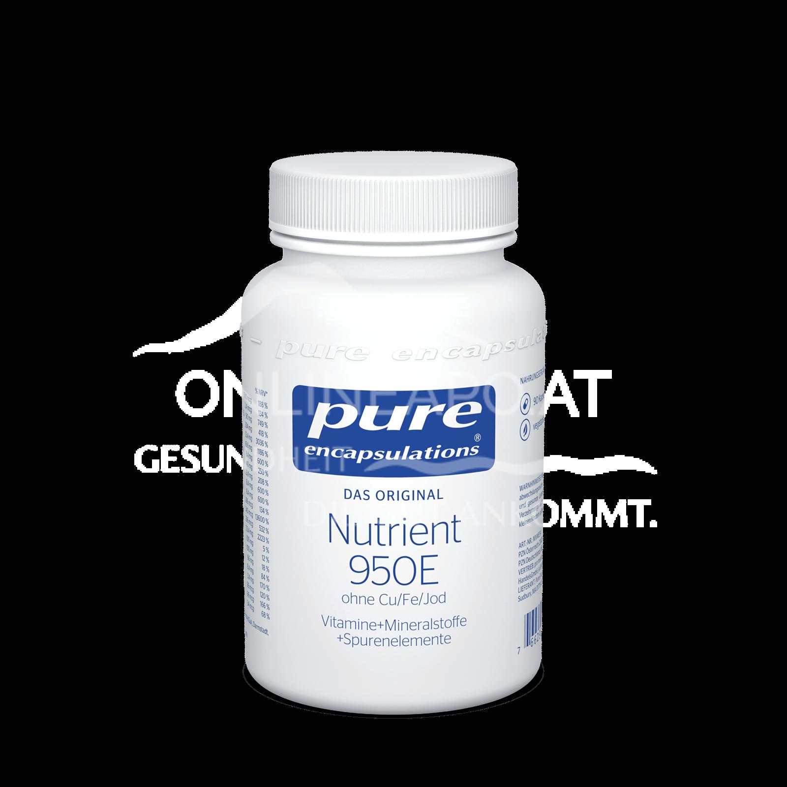 pure encapsulations® Nutrient 950E ohne Cu/Fe/Jod