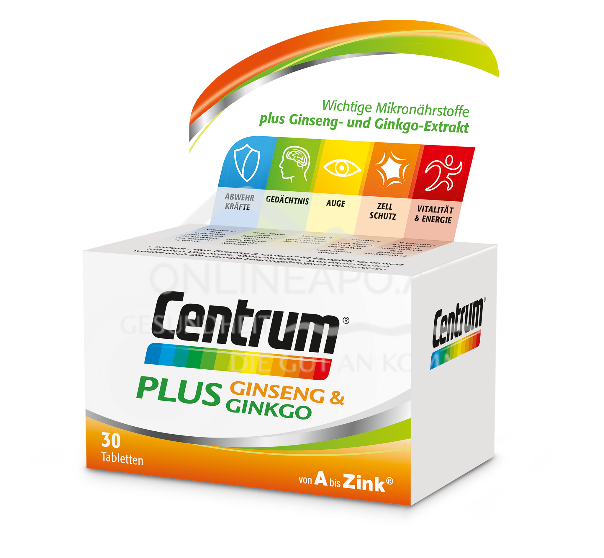 Centrum® Plus Ginseng & Ginkgo Tabletten