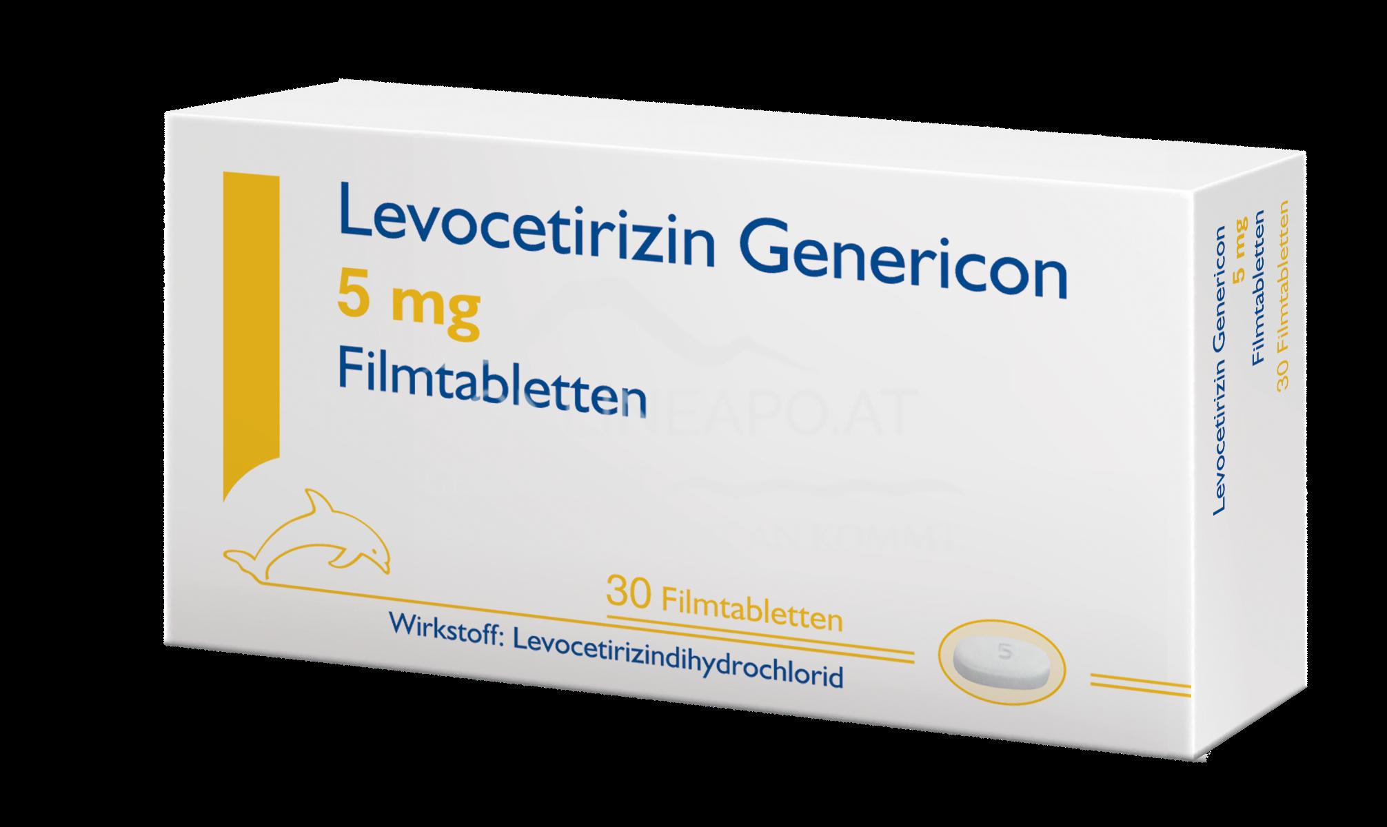Levocetirizin Genericon Filmtabletten 5mg