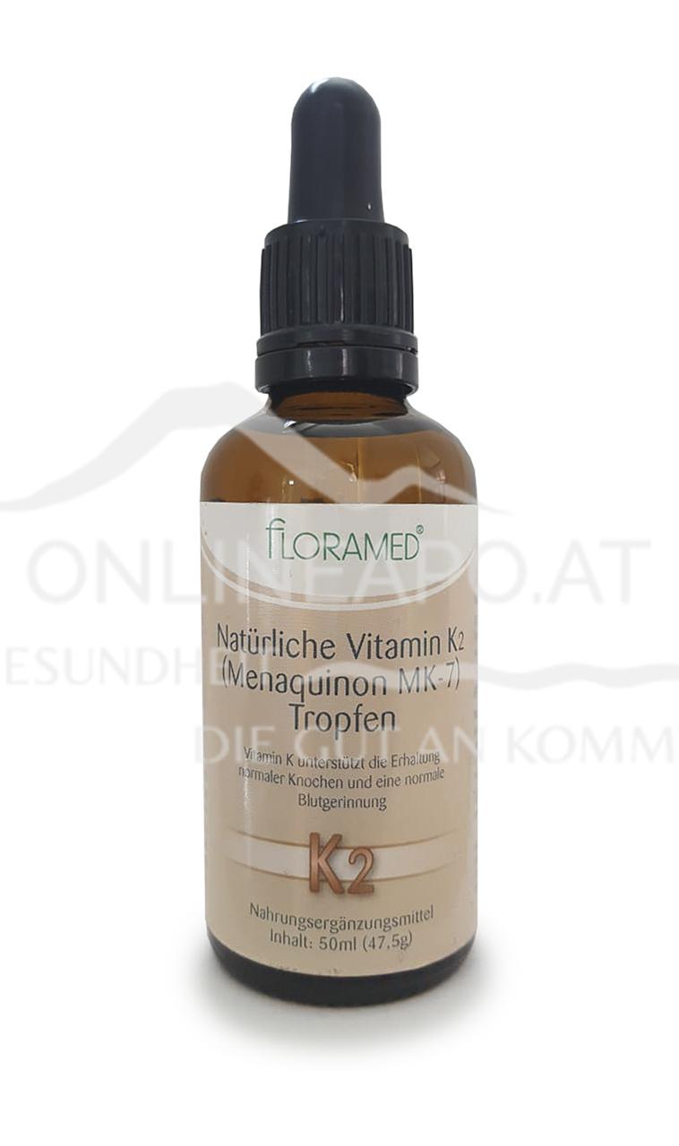 Floramed Vitamin D2 (Menaquinon MK-7) Tropfen natürlich