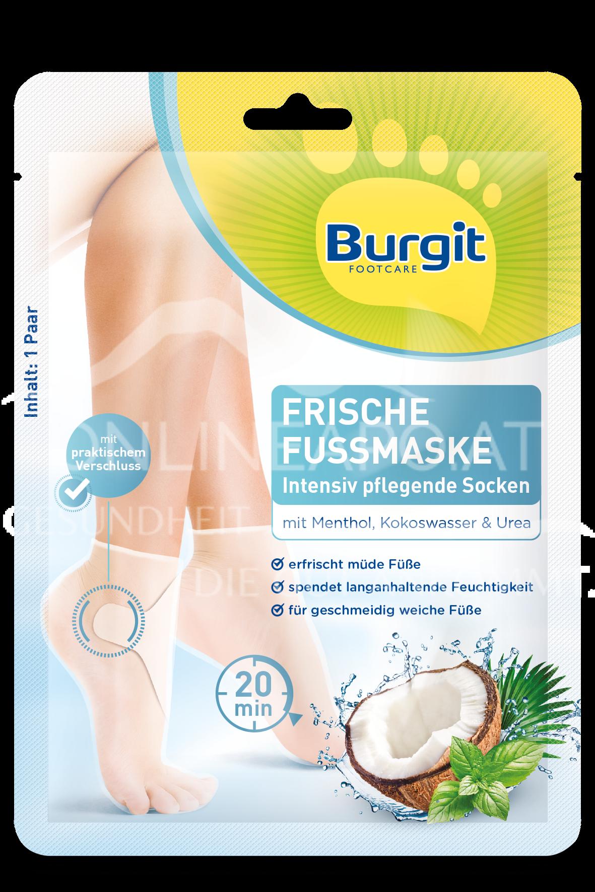 Burgit Footcare Frische Fußmaskensocken