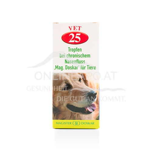 Doskar VET 25 Tropfen - Tropfen bei chronischem Nasenfluss