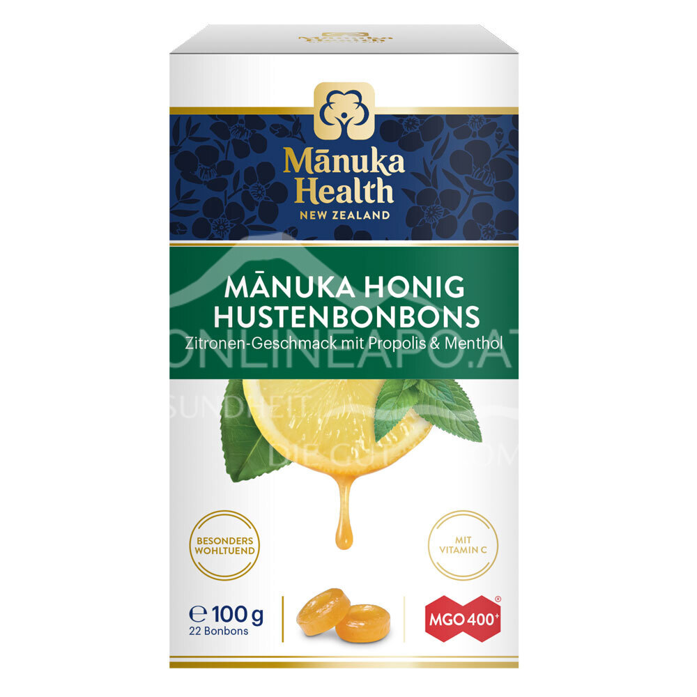 Mānuka Health Hustenbonbons Zitrone mit Propolis und Menthol MGO 400+