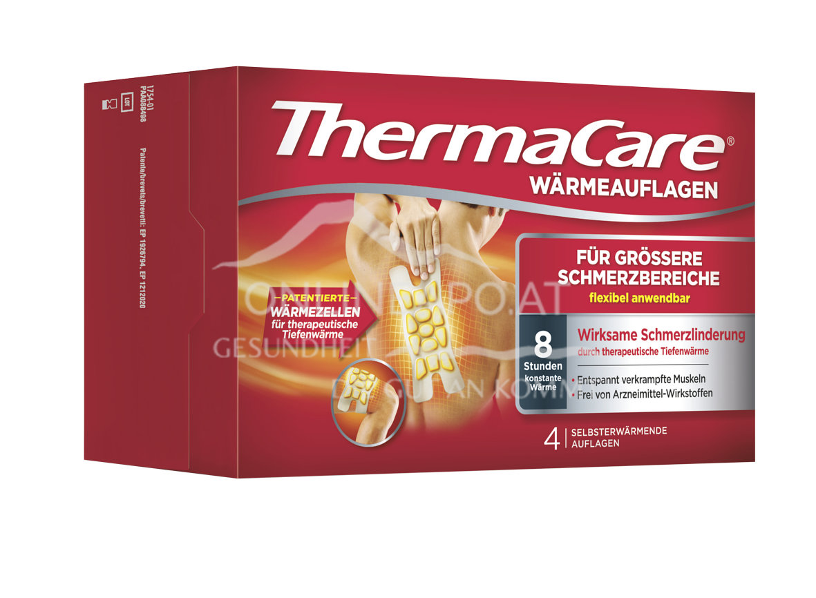 ThermaCare® Wärmeauflagen für größere Schmerzbereiche
