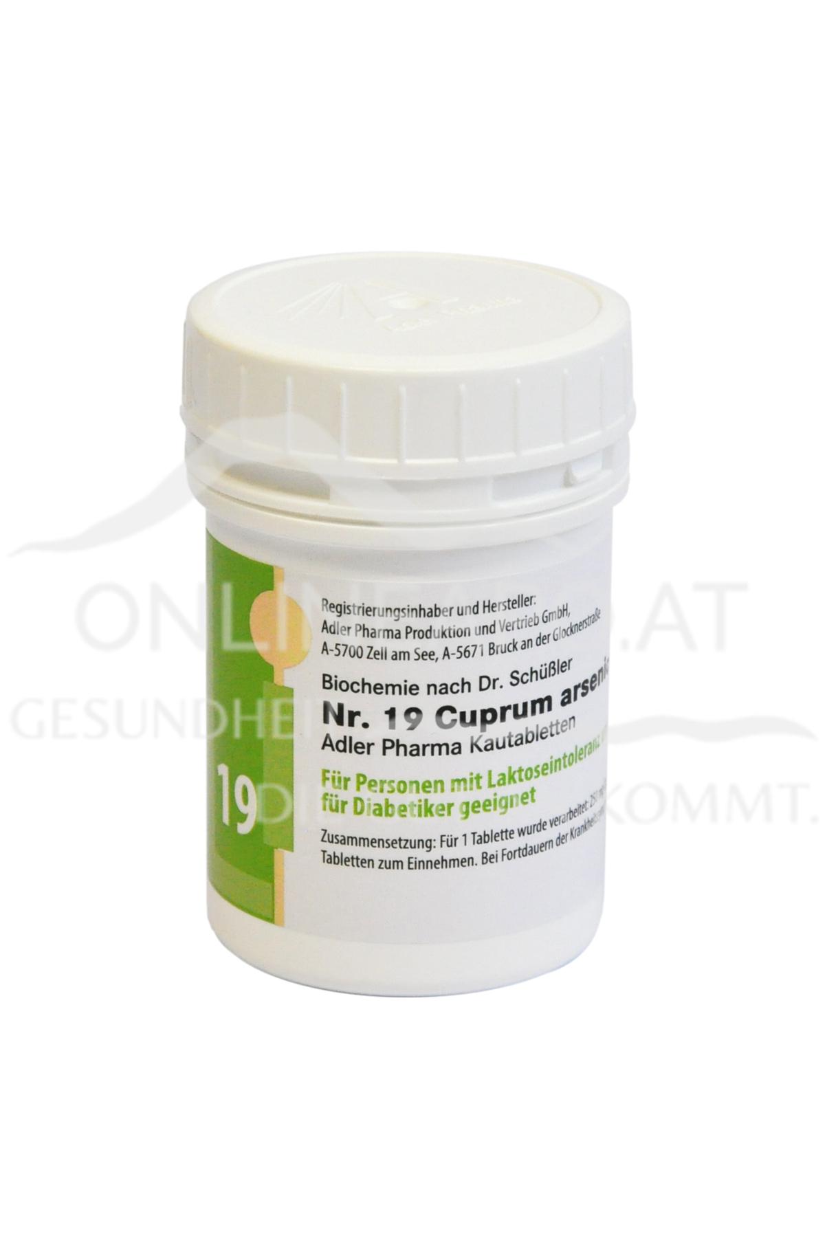 Schüßler Nr. 19 Cuprum arsenicosum D12 LI