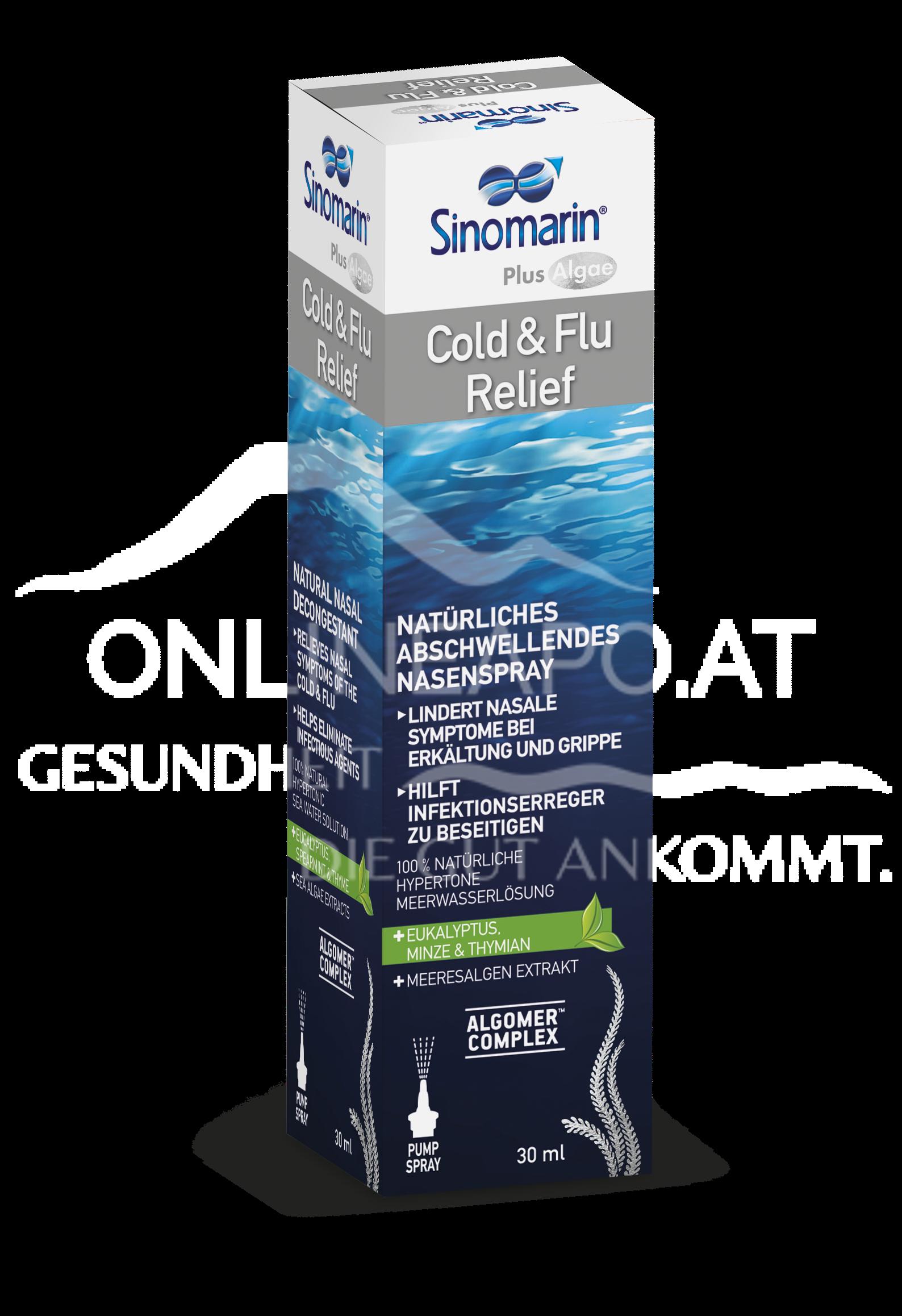 Sinomarin Cold & Flu Relief + Alge Nasenspray