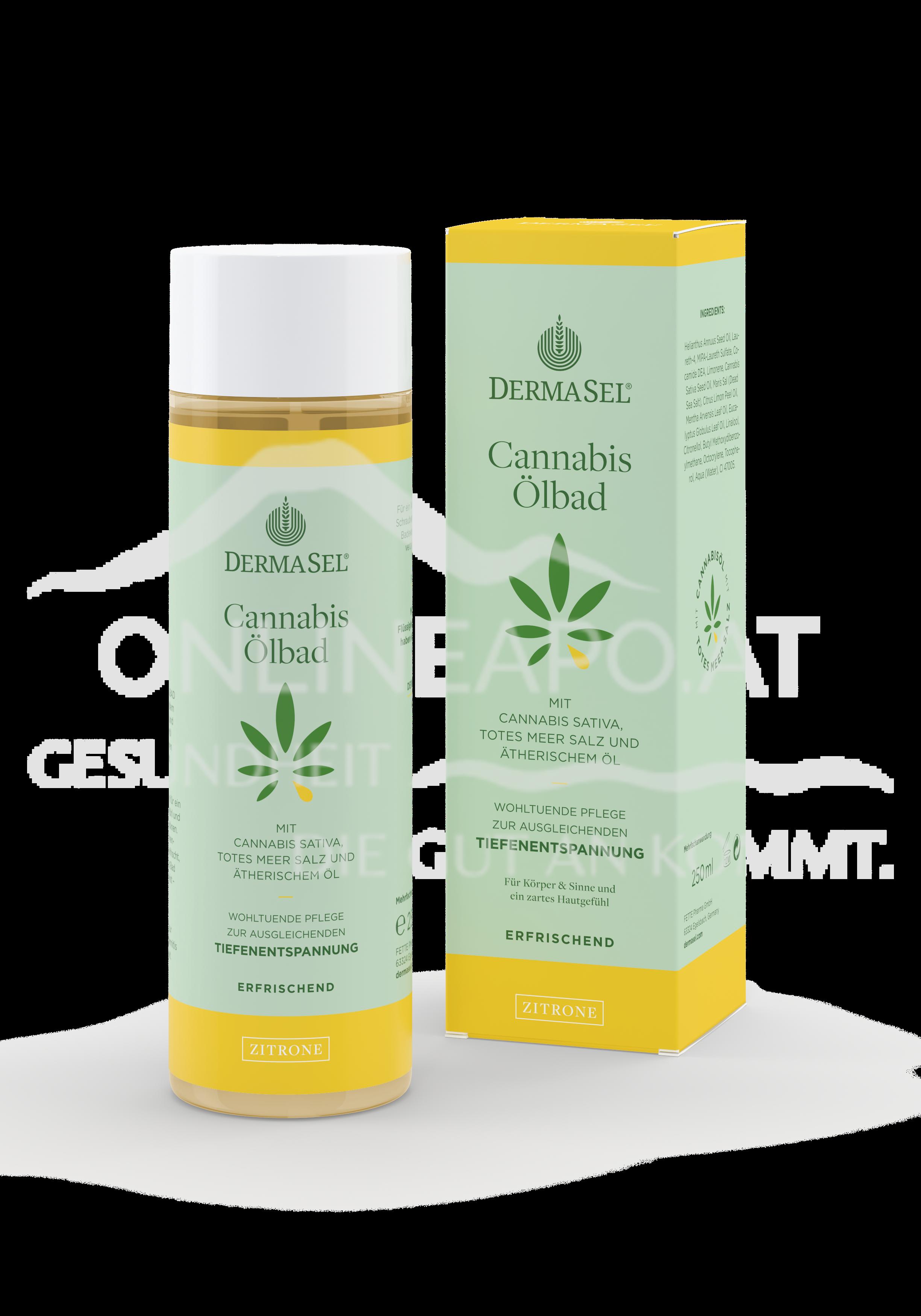 DermaSel® Cannabis Ölbad Zitrone