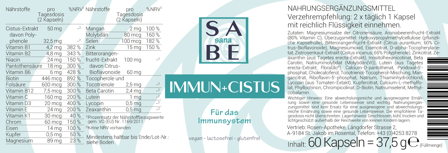 SABE sana Immun + Cistus Kapseln