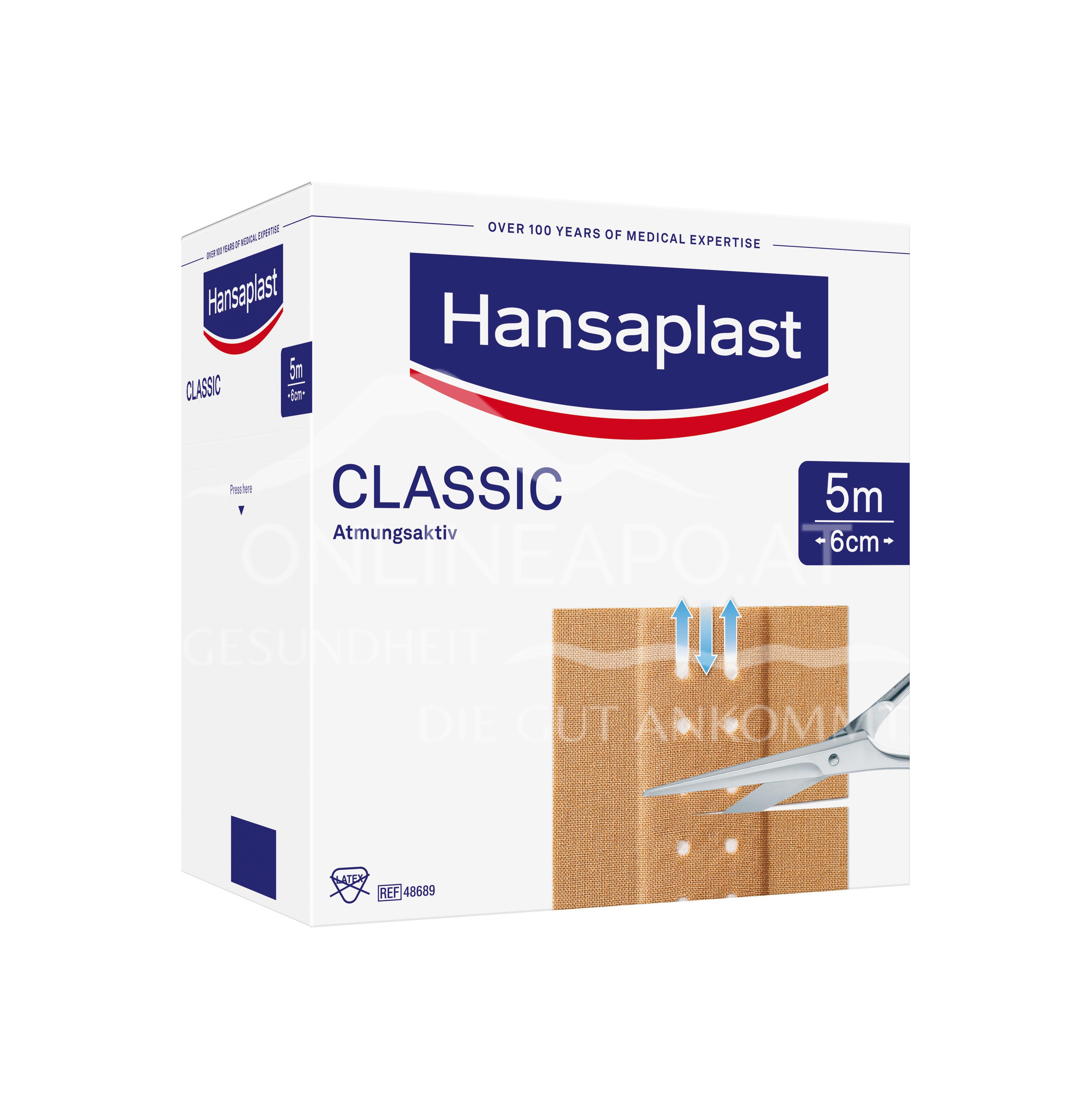 Hansaplast Classic Großpackung 5m x 6cm