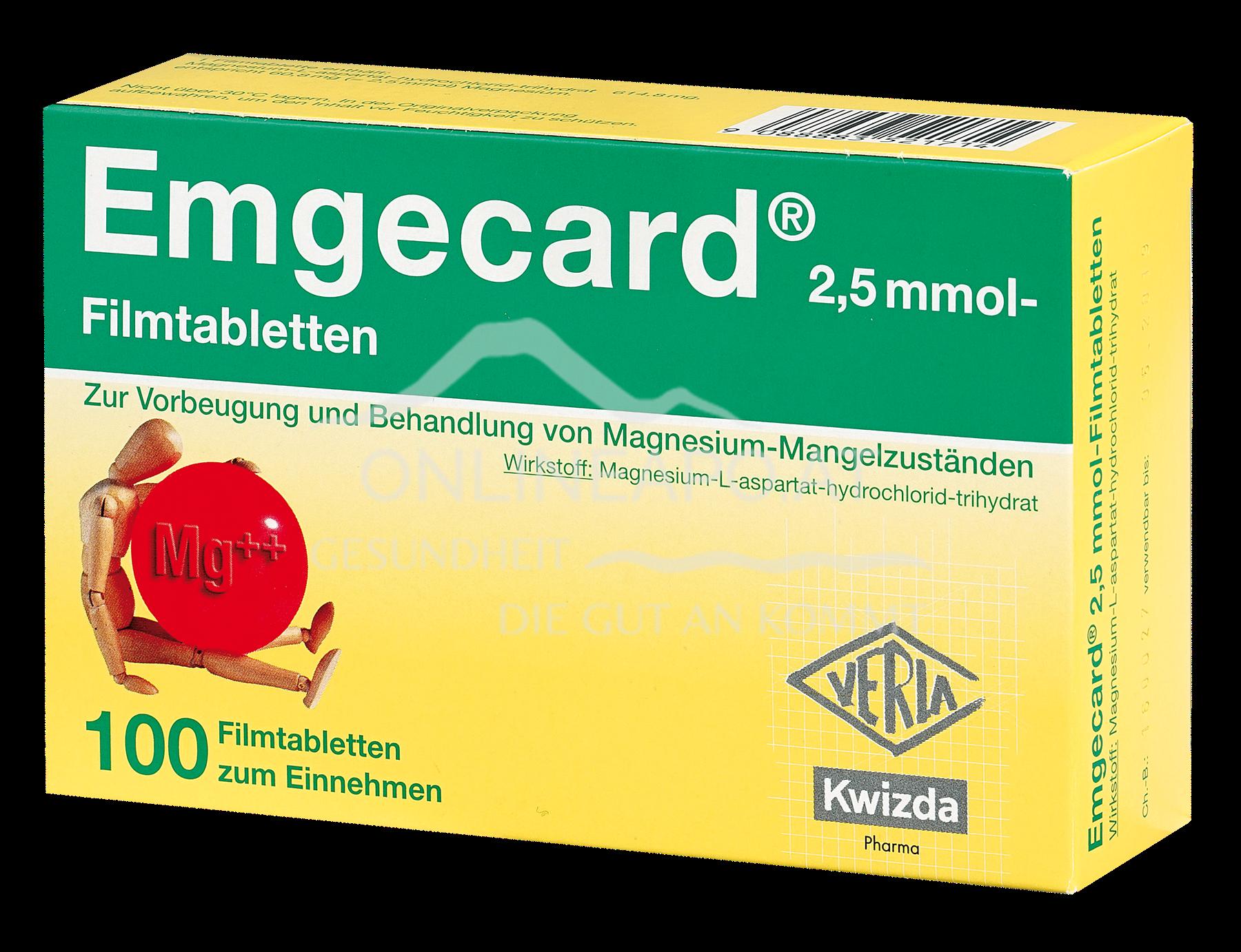 Emgecard 2,5 mmol Filmtabletten