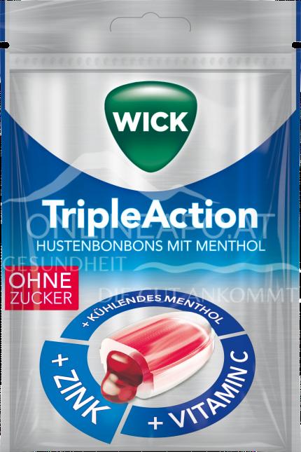 Wick TripleAction Hustenbonbons mit Menthol & Cassis