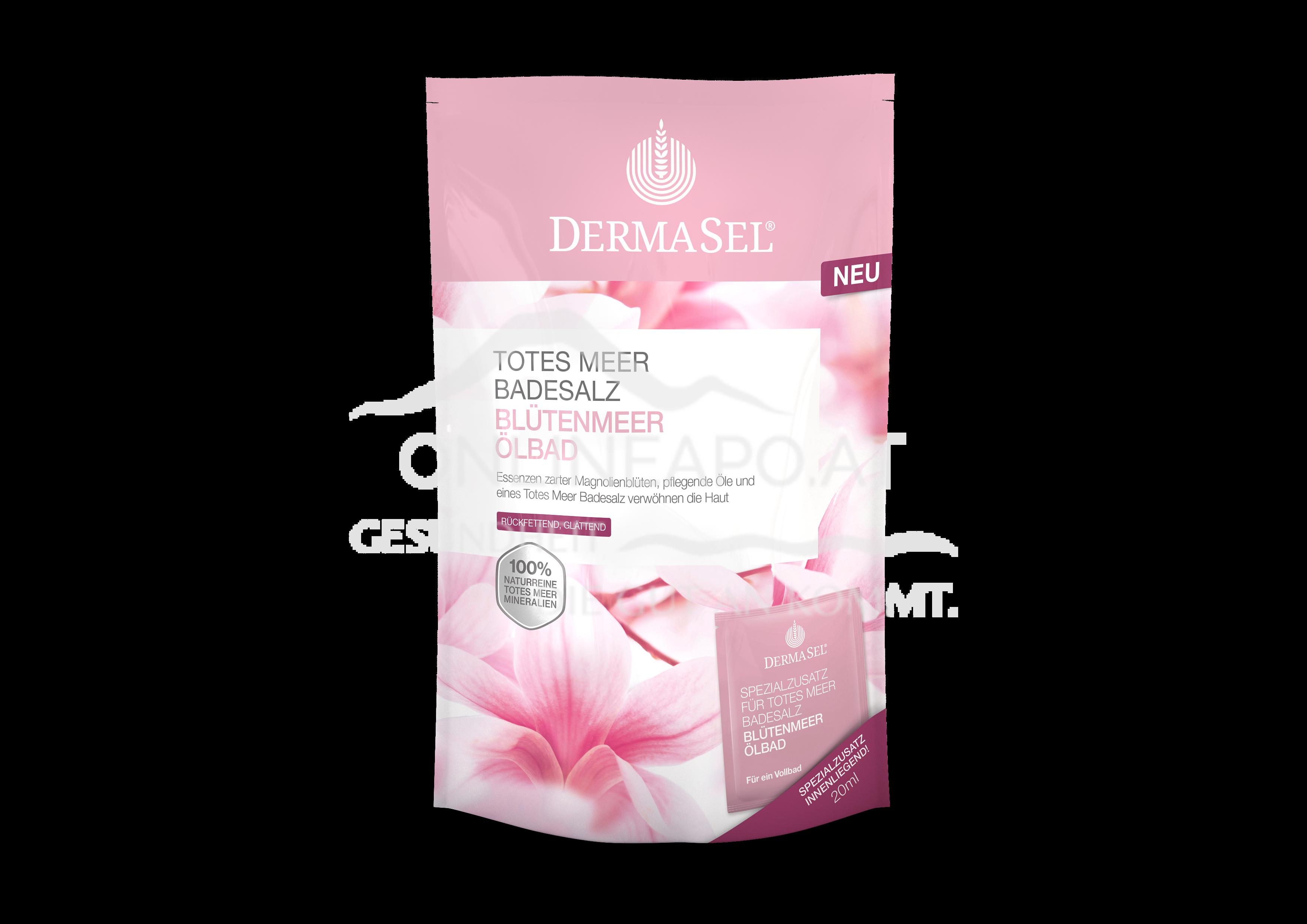 DermaSel® Totes Meer Badesalz Blütenmeer Ölbad