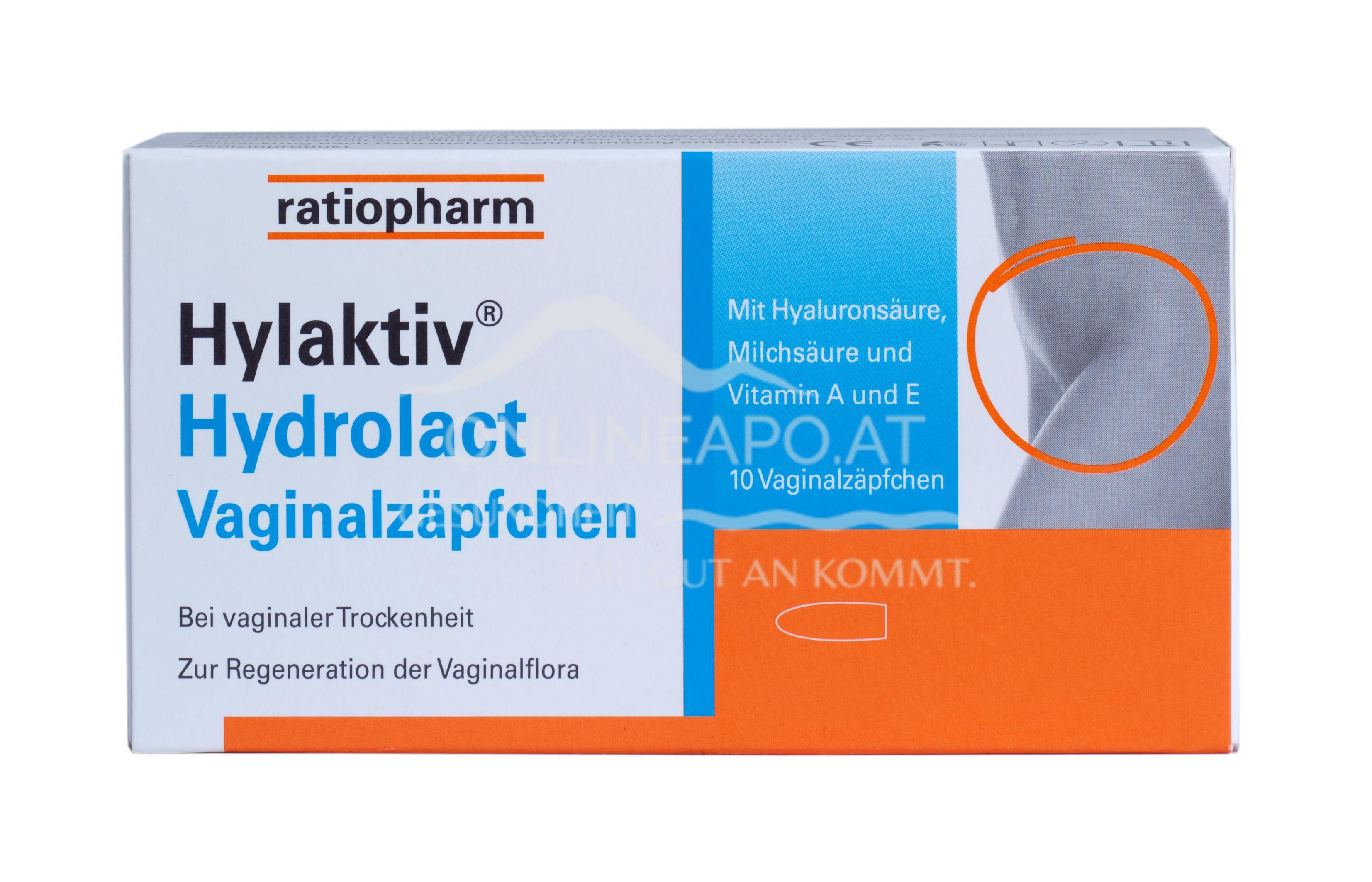 Hylaktiv®Hydrolact Vaginalzäpfchen