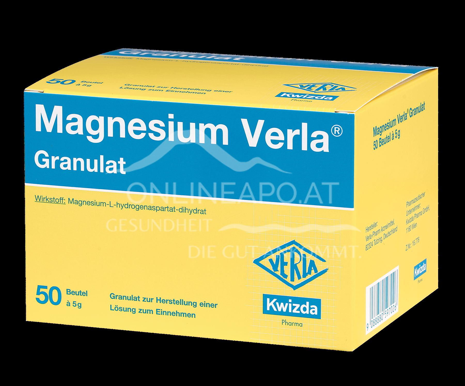 Magnesium Verla® Granulat á 5 g