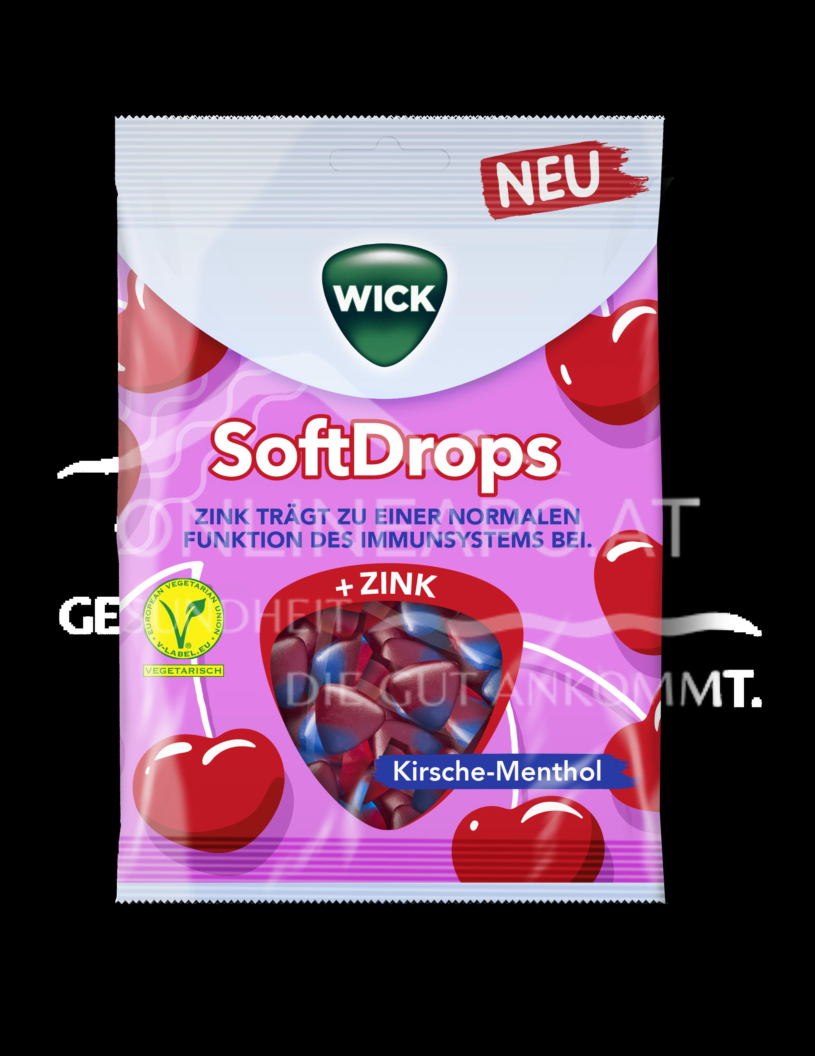 Wick Softdrops Wetterfest Kirsche-Menthol Zink