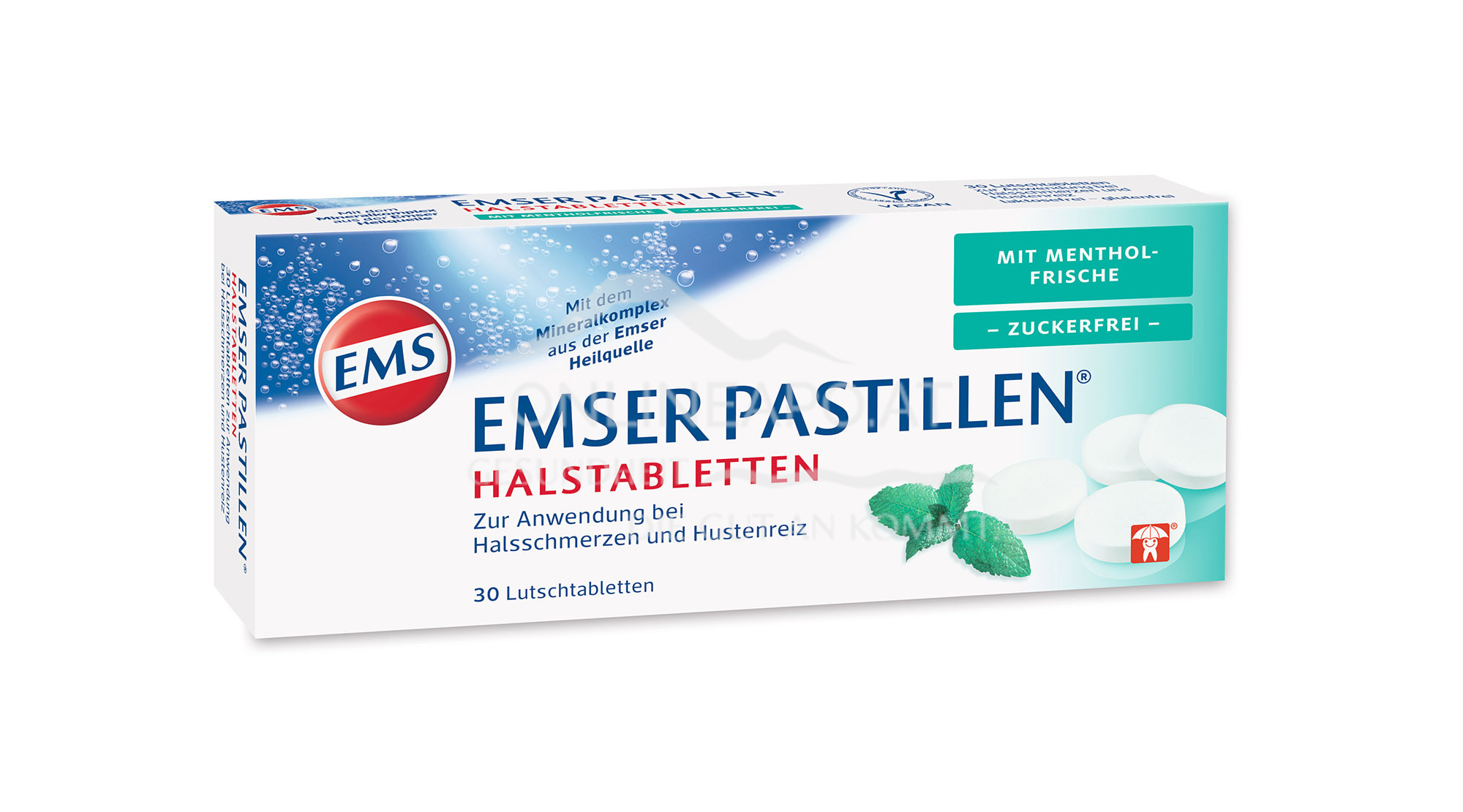 Emser Pastillen® Halstabletten mit Mentholfrische, zuckerfrei