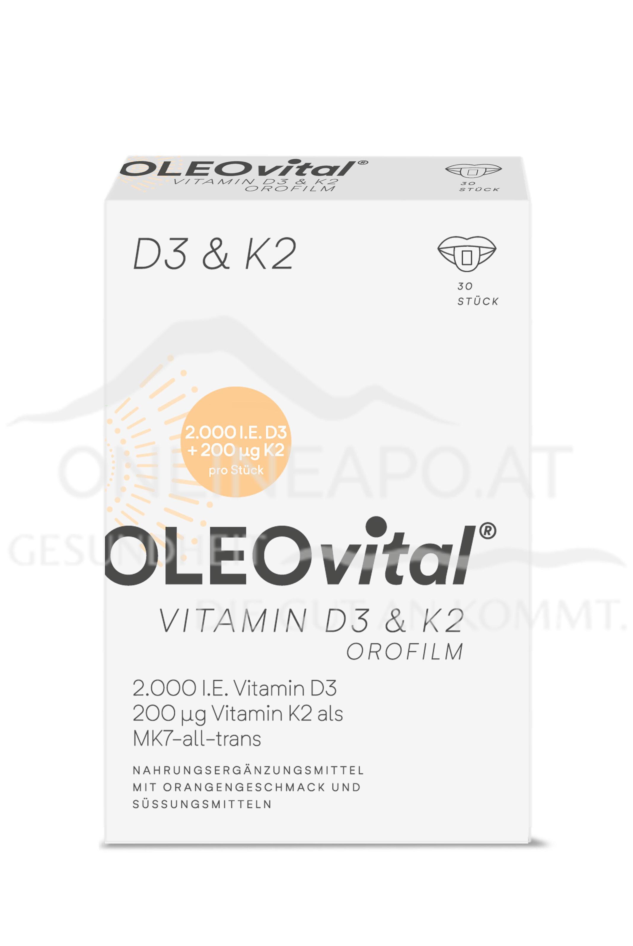 OLEOvital® VITAMIN D3+K2 OroFilm™  (2000 I.E. + 200 µg)