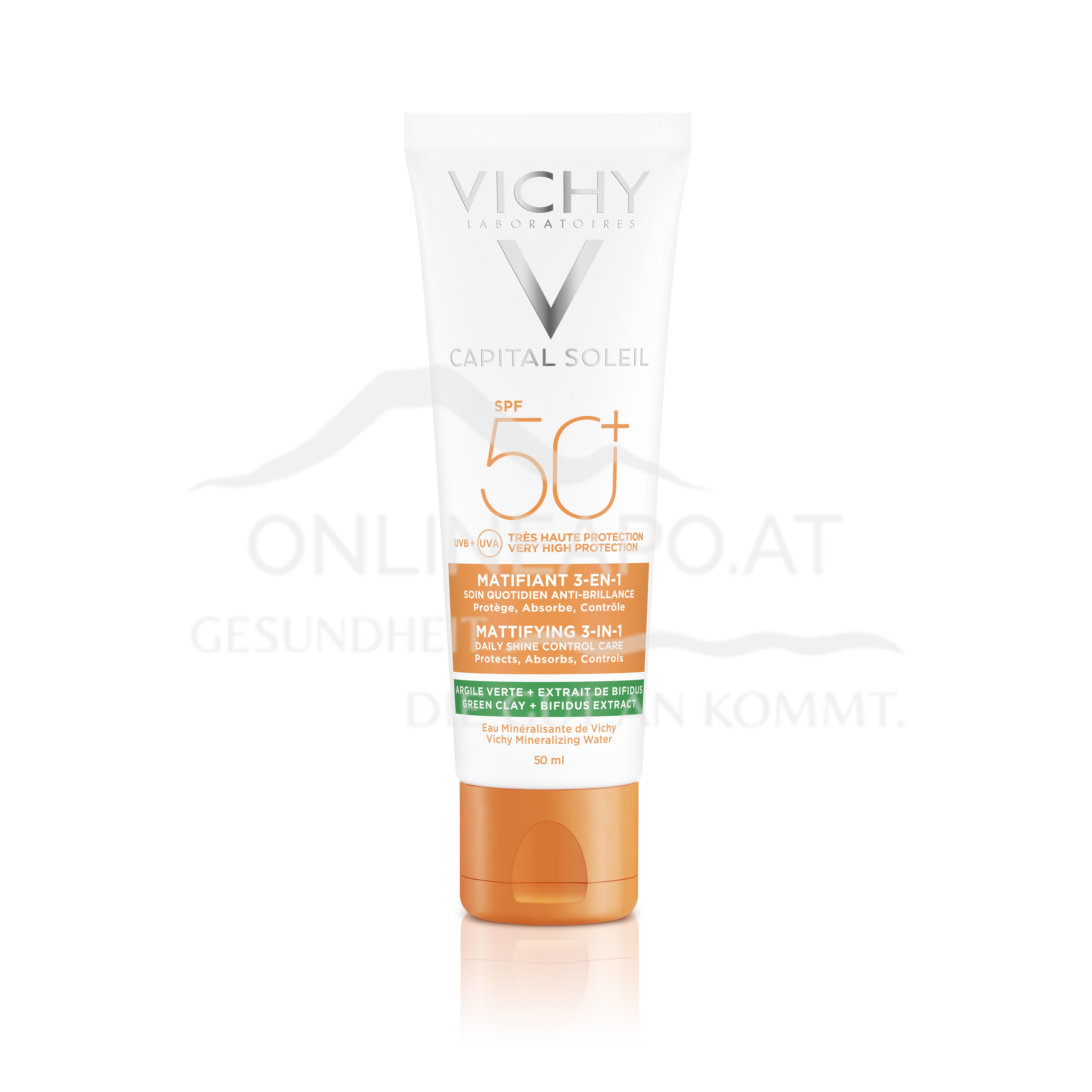 VICHY Capital Soleil 3in1 Mattierende Sonnenpflege LSF 50+