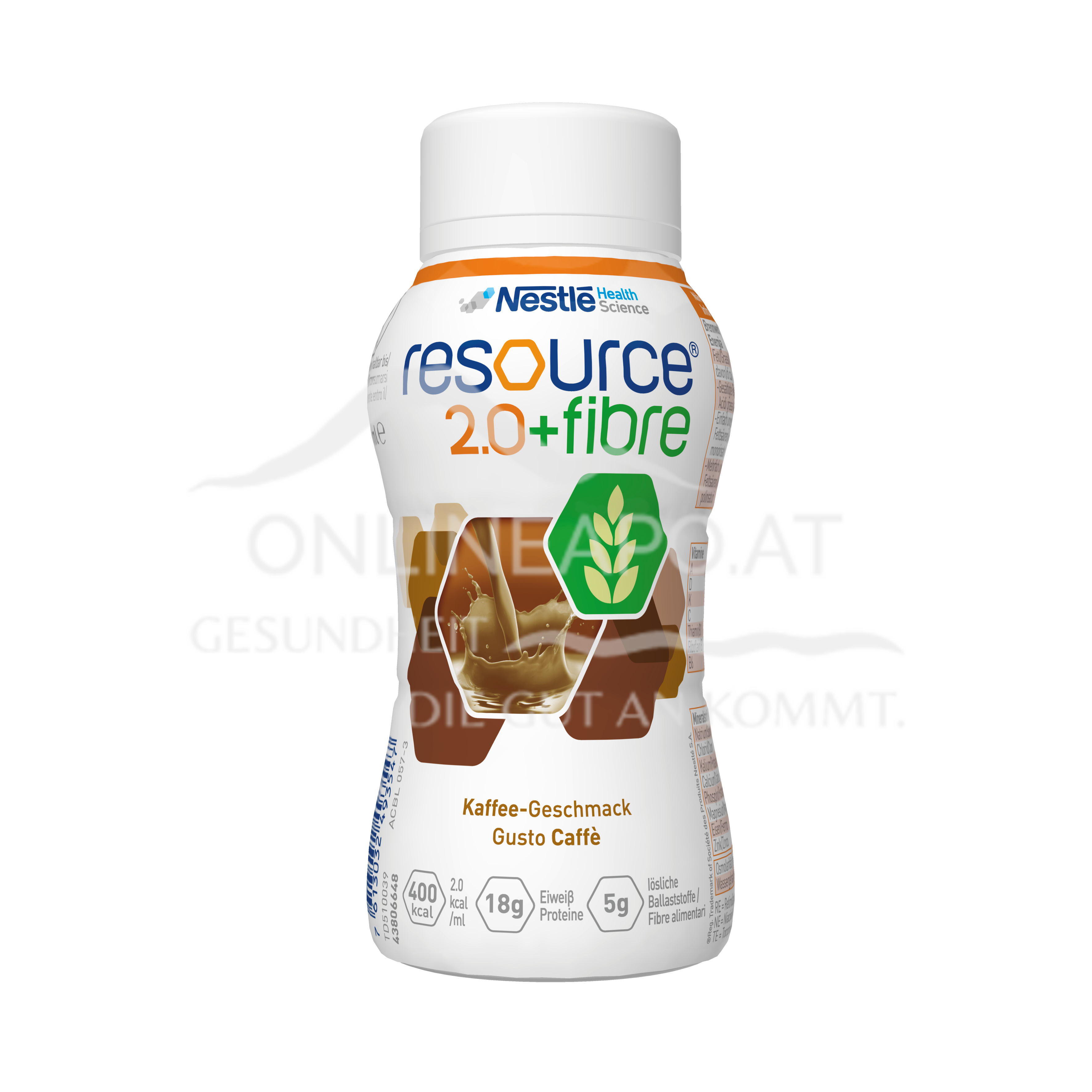 Resource® 2.0 + fibre Kaffee 4x200ml