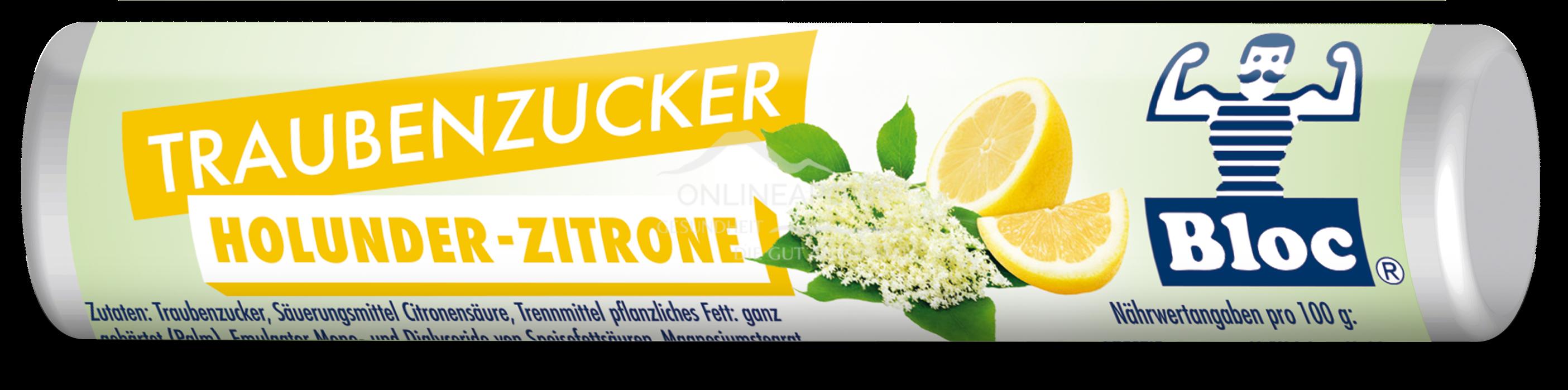 Bloc® Traubenzucker Rolle Holunder-Zitrone
