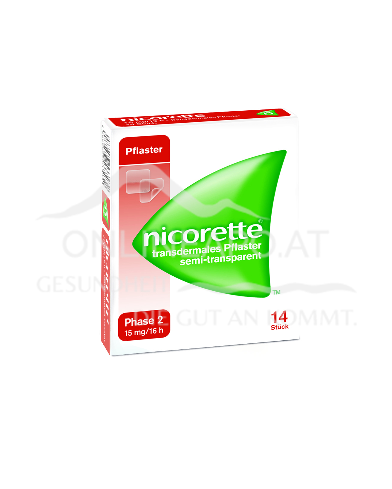 Nicorette® Transdermales Pflaster 15mg/16h