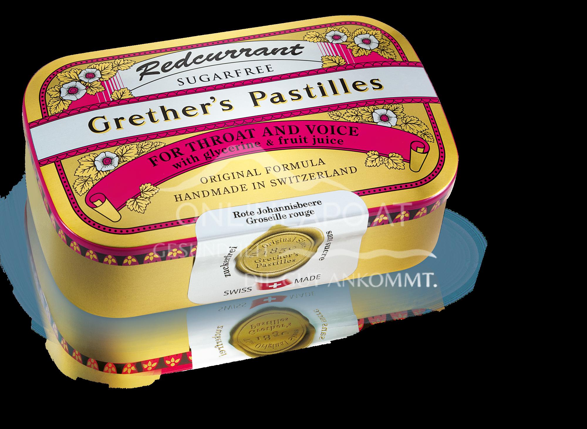 Grether's Redcurrant Pastilles zuckerfrei